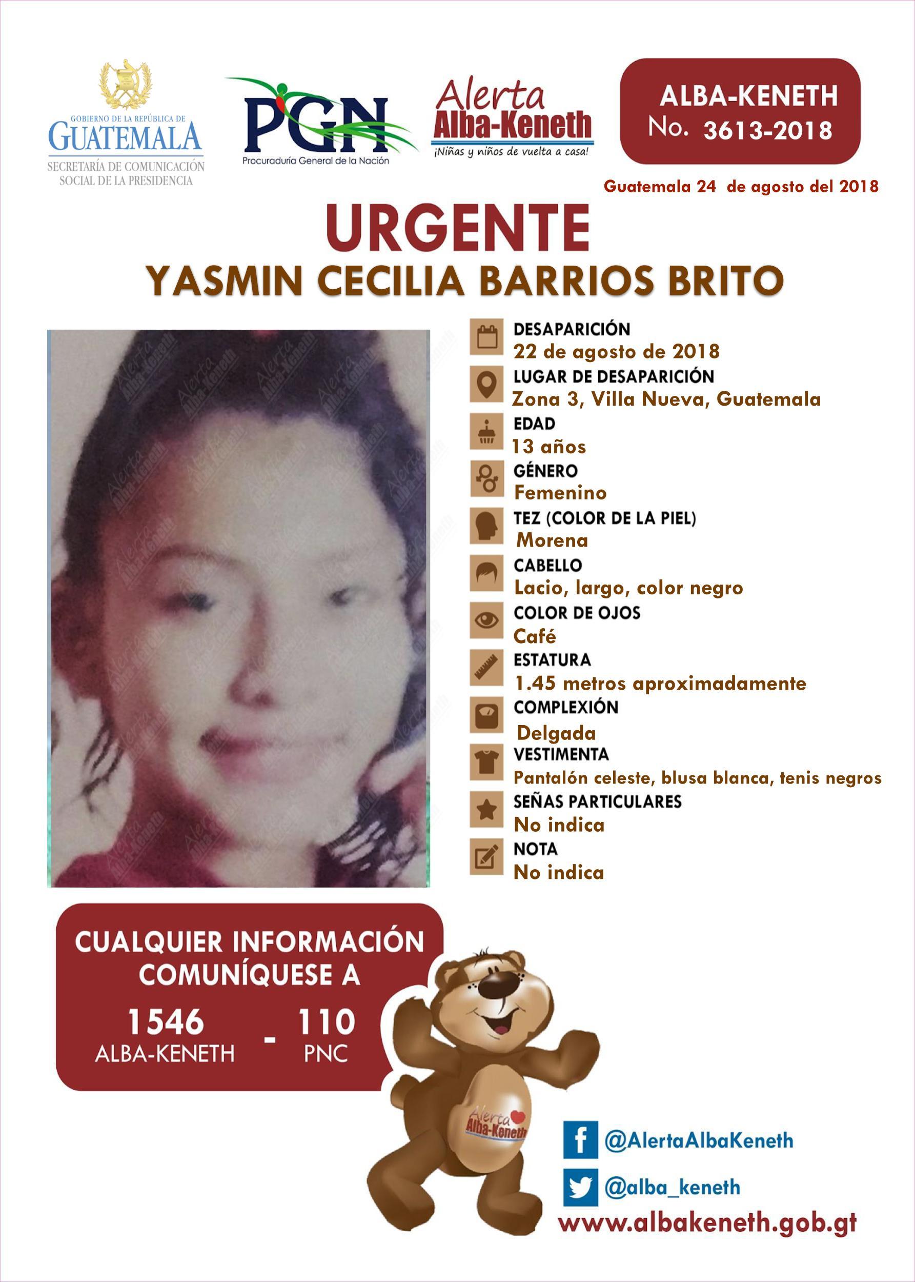 Yasmin Cecilia Barios Brito