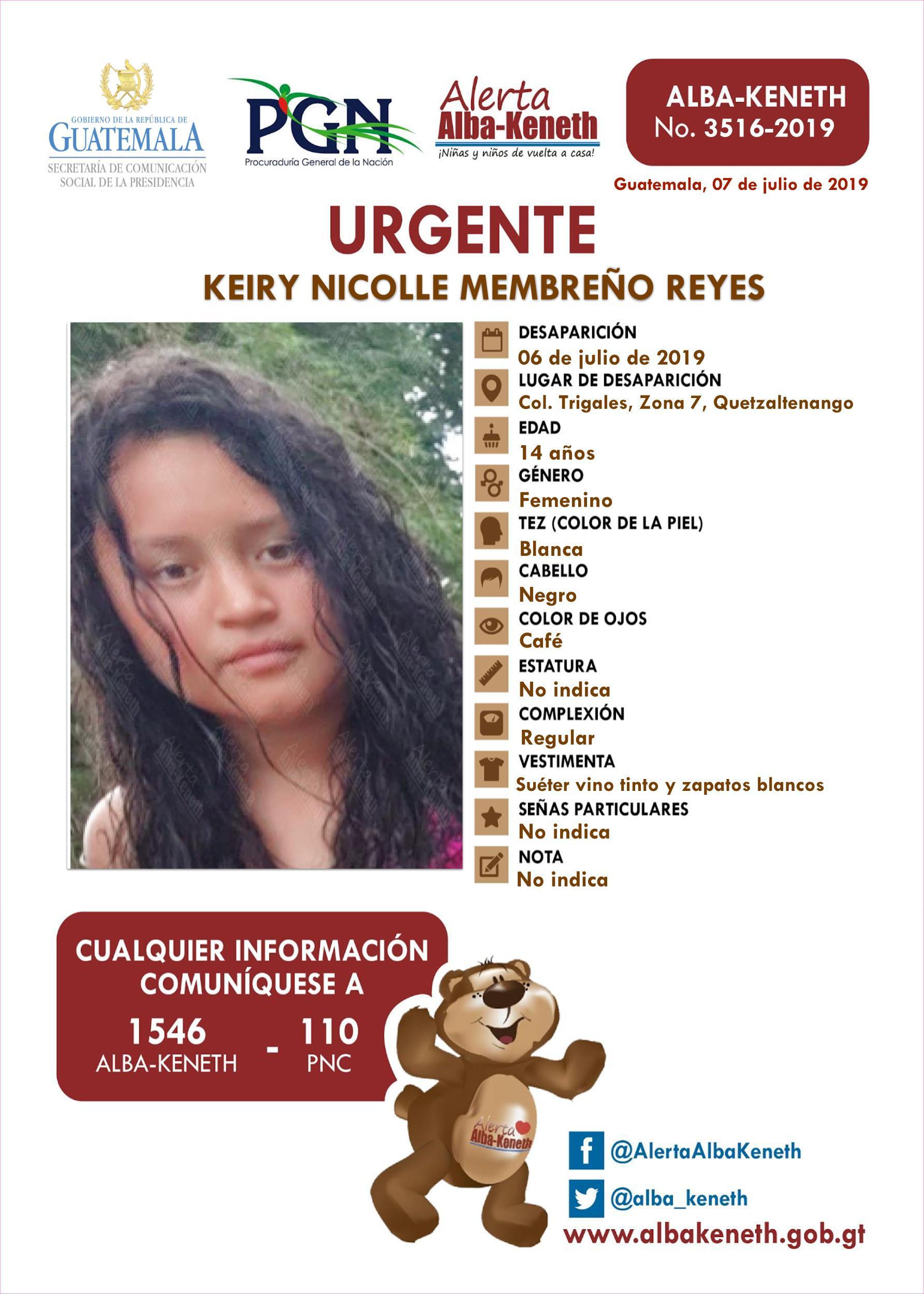 Keiry Nicolle Membreño Reyes