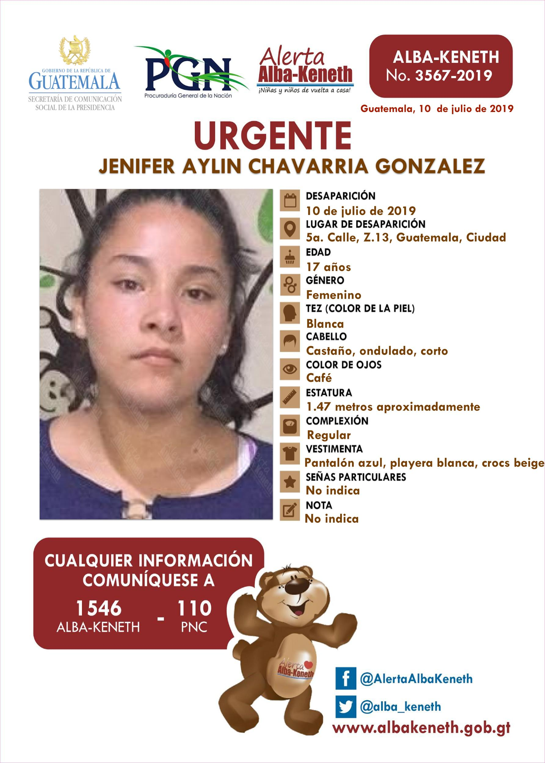Jenifer Aylin Chavarria Gonzalez