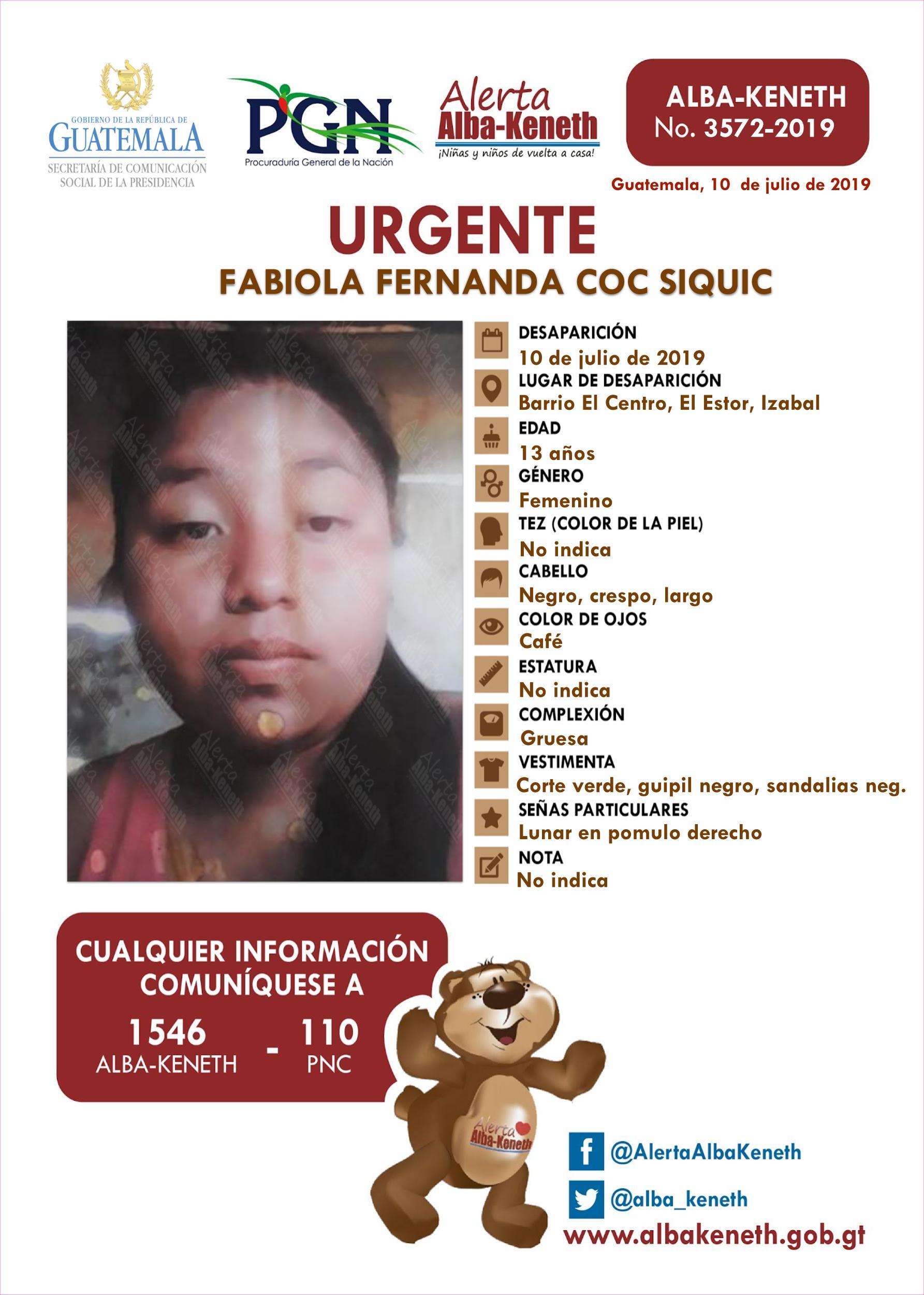 Fabiola Fernando Coc Siquic