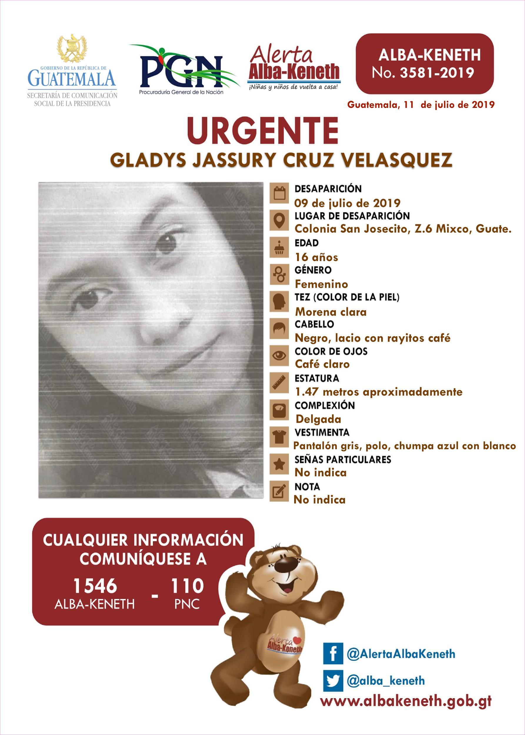 Gladys Jassury Cruz Velasquez