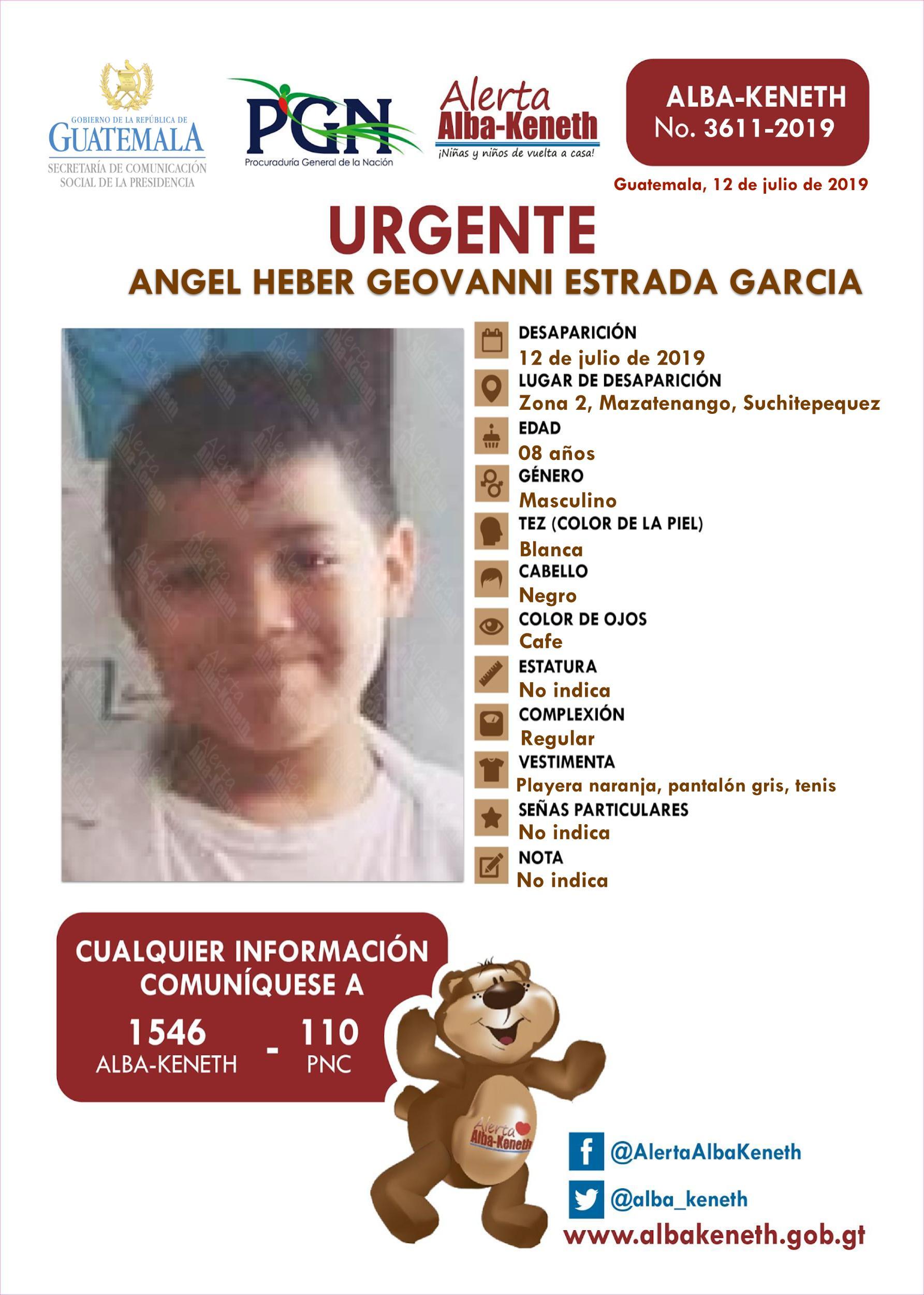 Angel Heber Geovanny Estrada Garcia