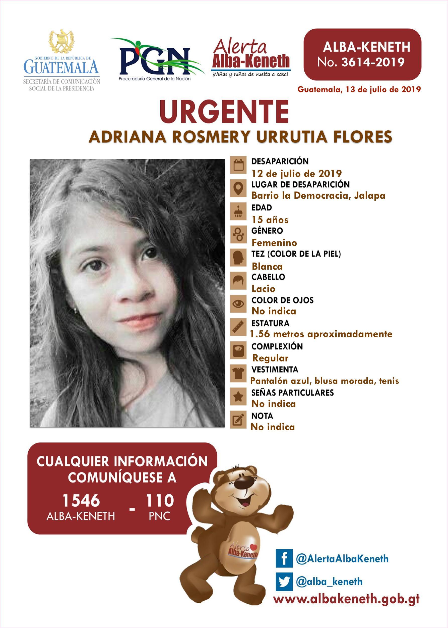 Adriana Rosmery Urrutia Flores