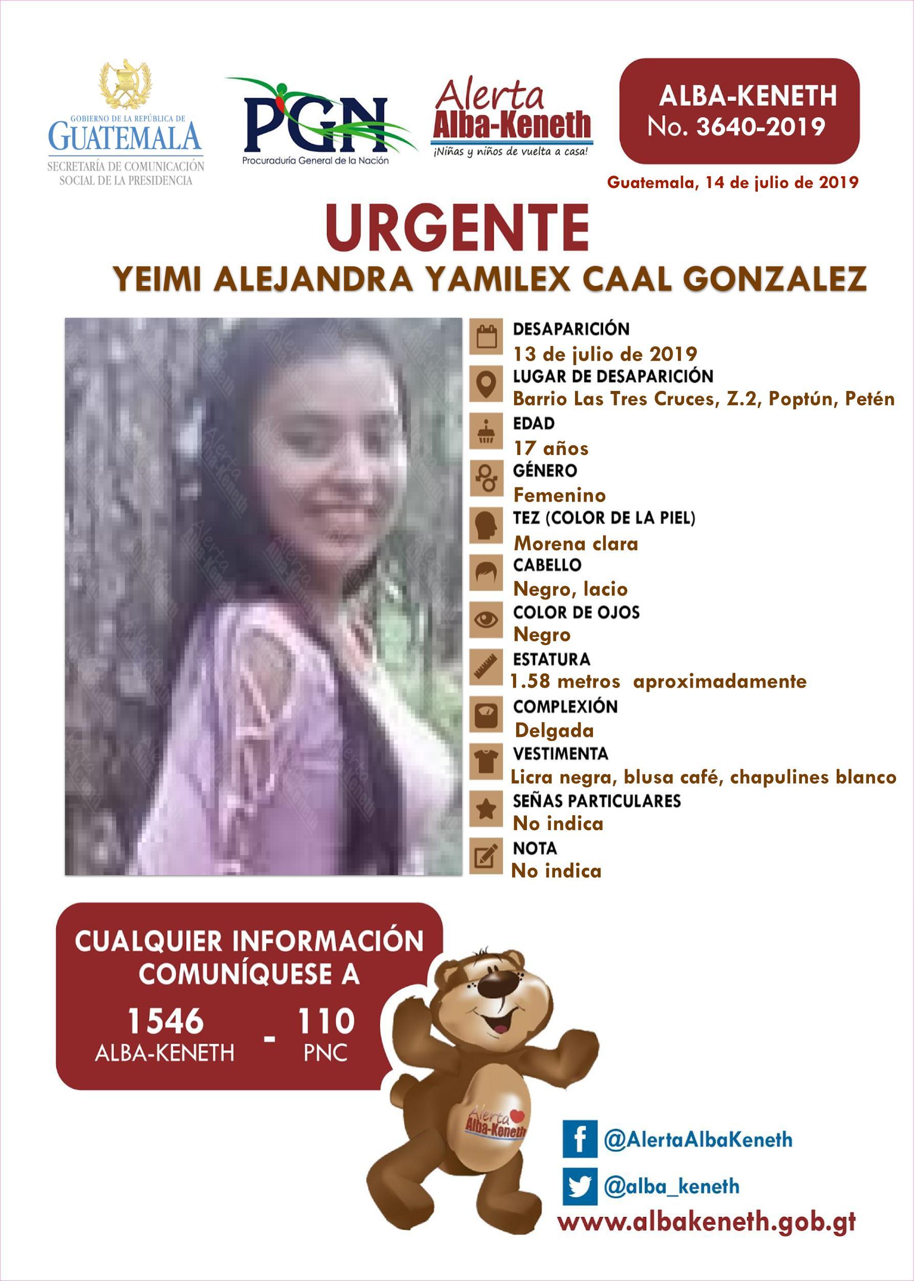 Yeimi Alejandra Yamilex Caal Gonzalez
