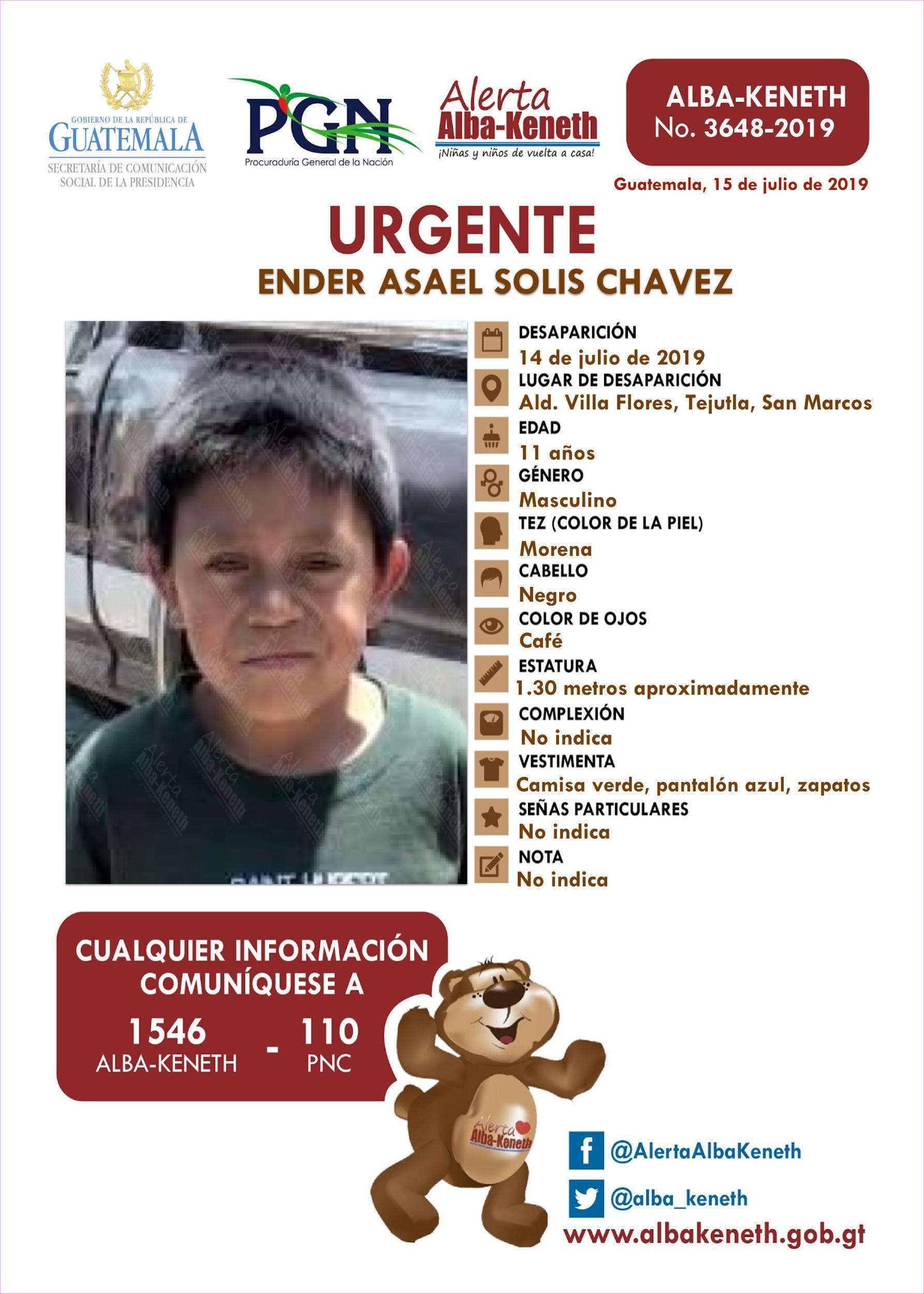 Ender Asael Solis Chavez
