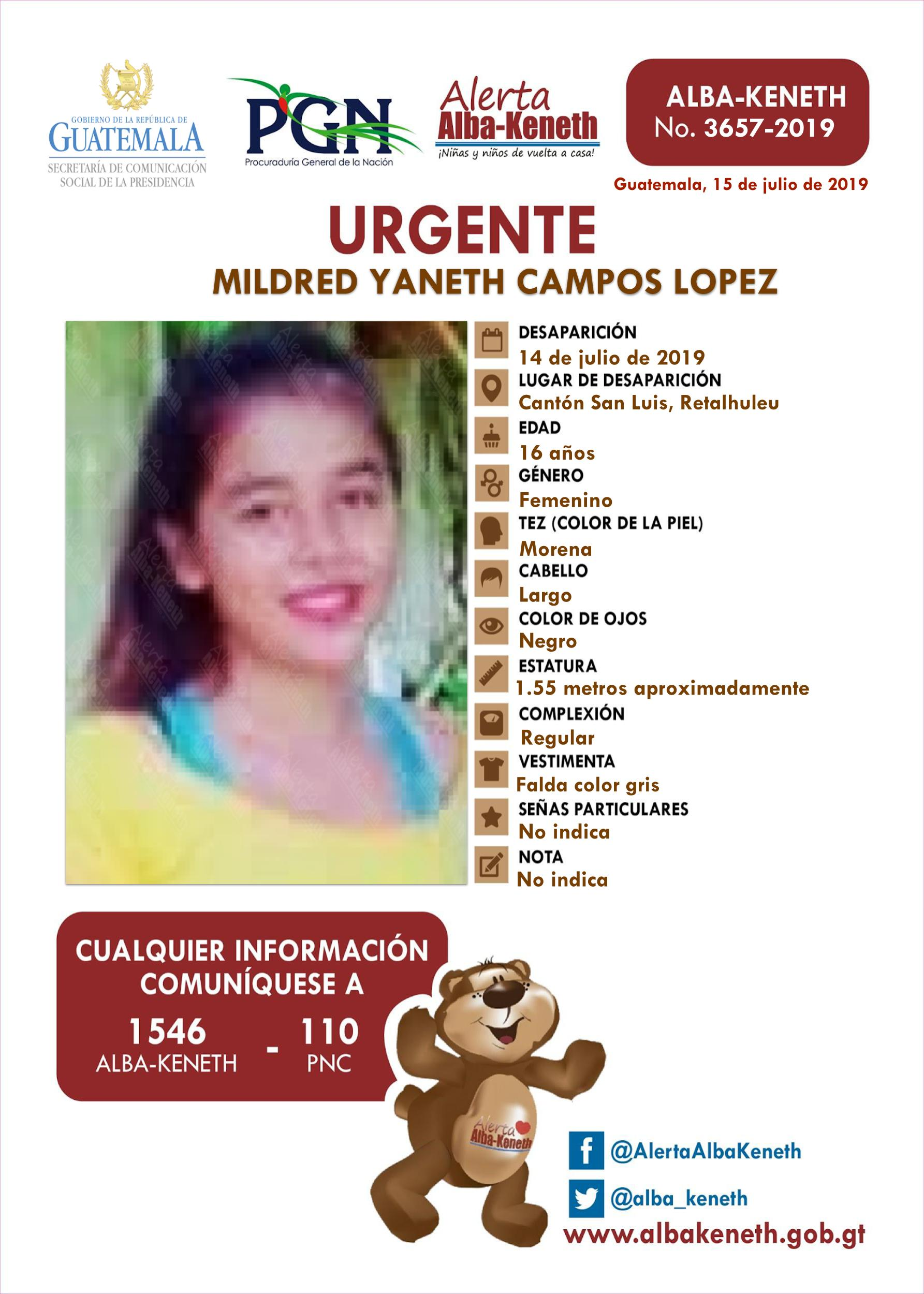 Mildred Yaneth Campos Lopez