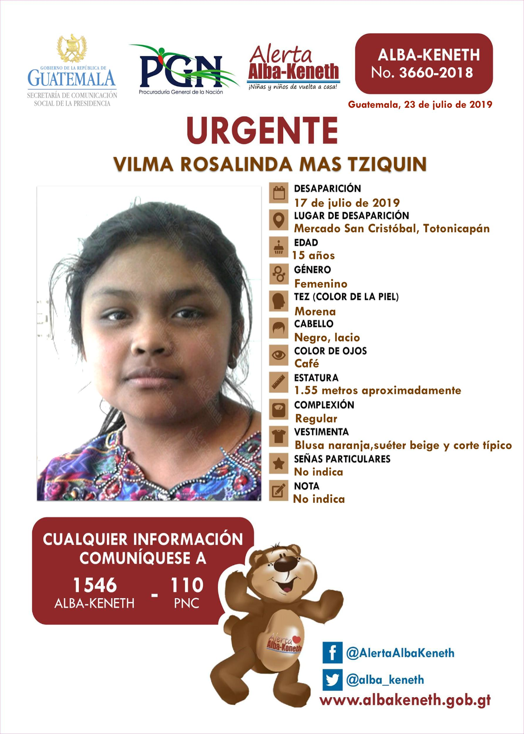 Vilma Rosalinda Mas Tziquin