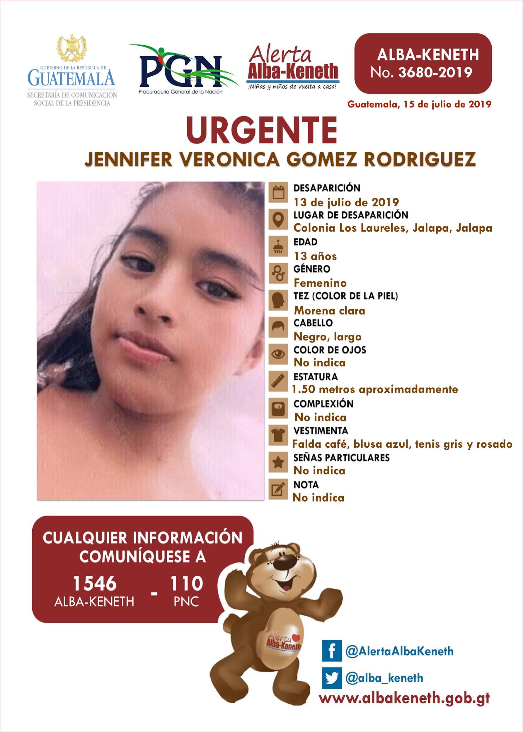 Jennifer Veronica Gomez Rodriguez