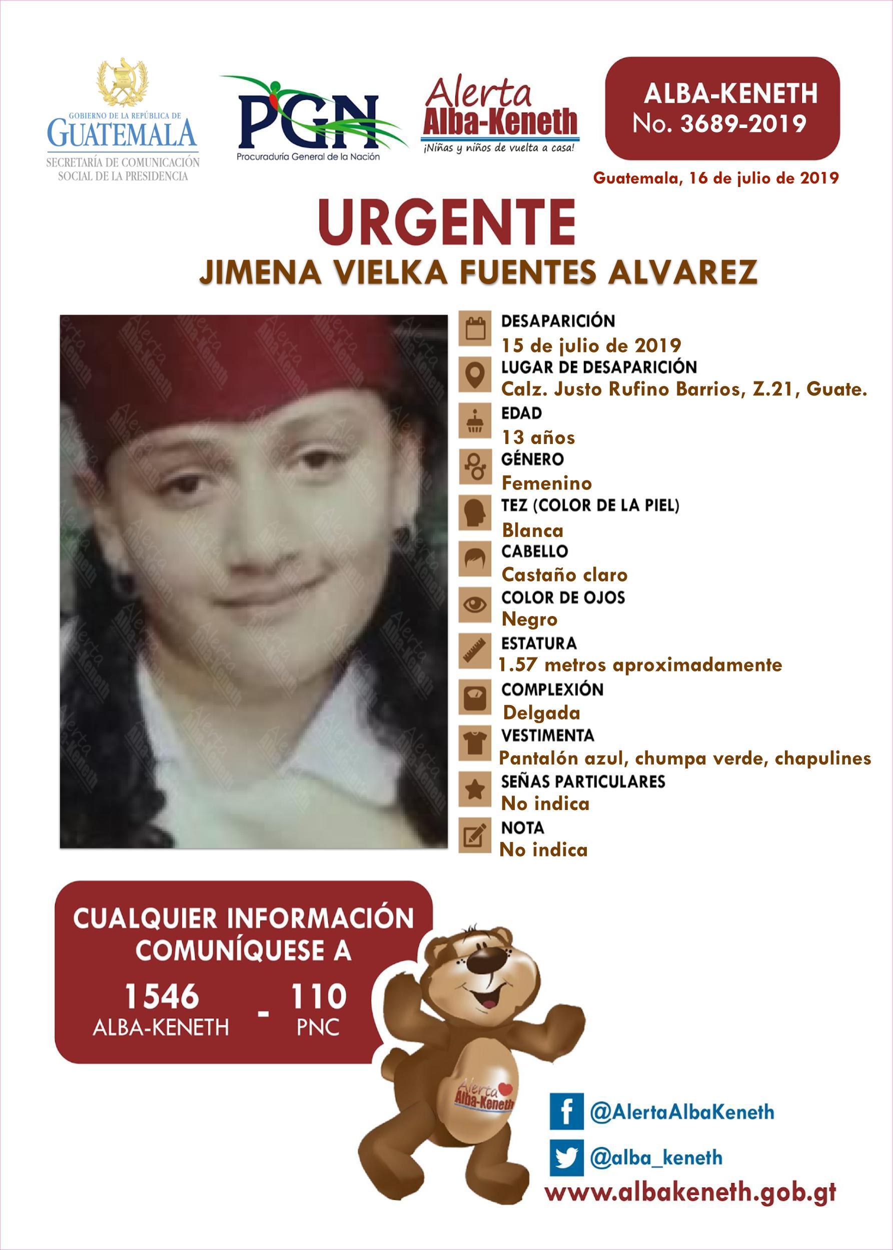 Jimena Vielka Fuentes Alvarez