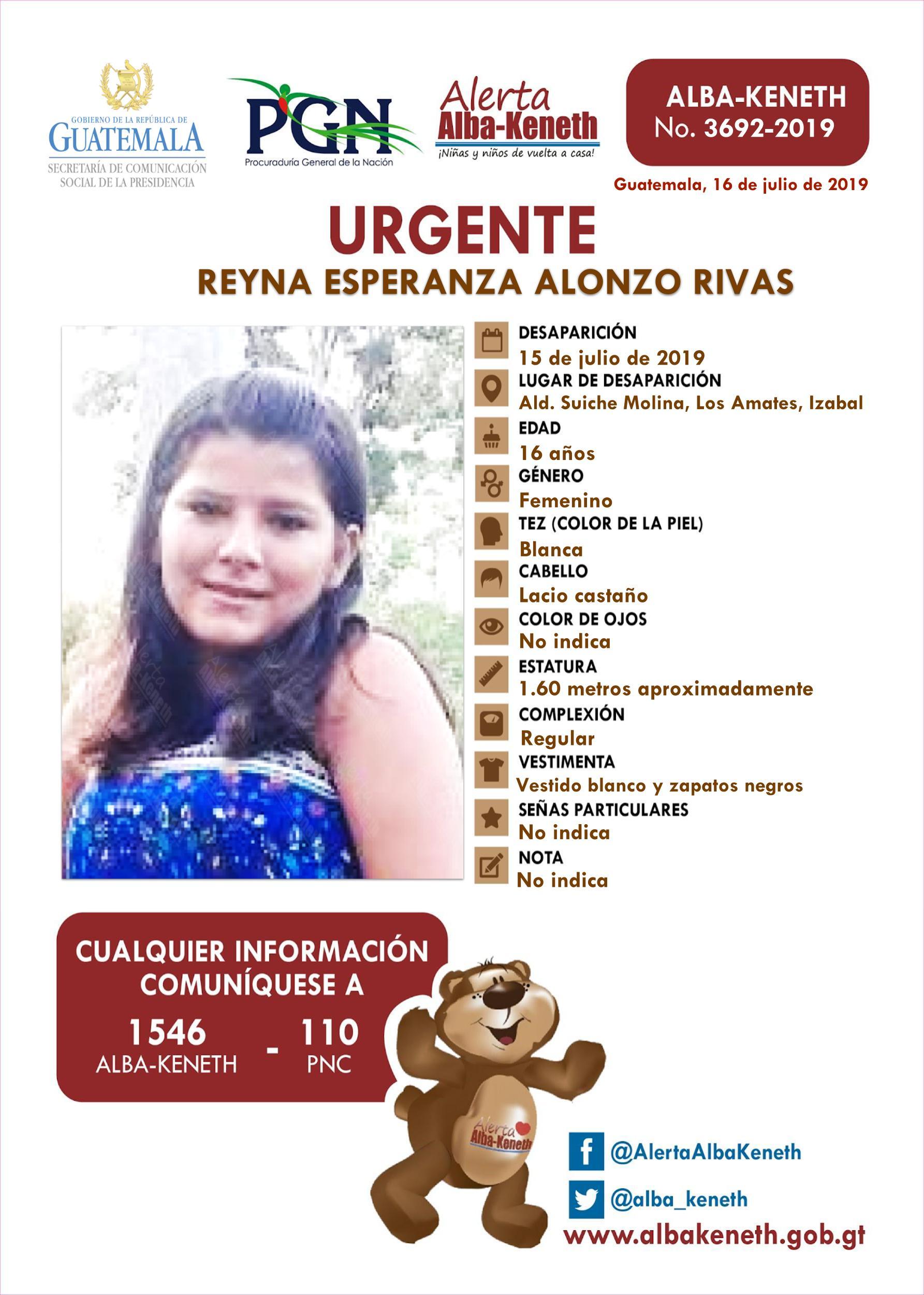 Reyna Esperanza Alonzo Rivas