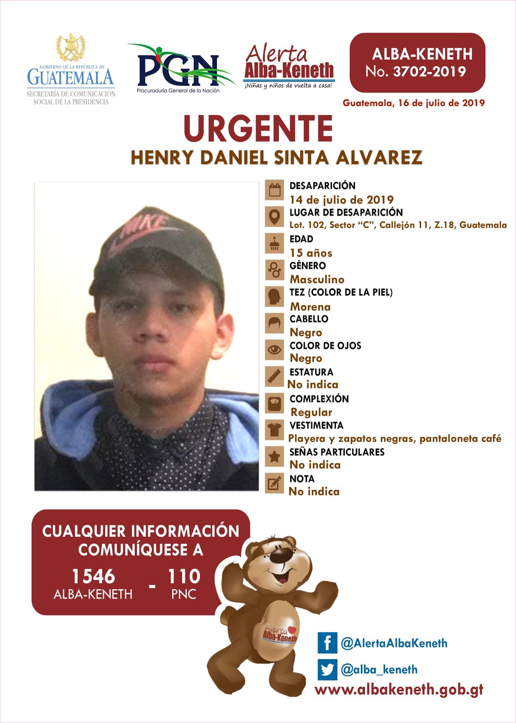 Henry Daniel Sinta Alvarez