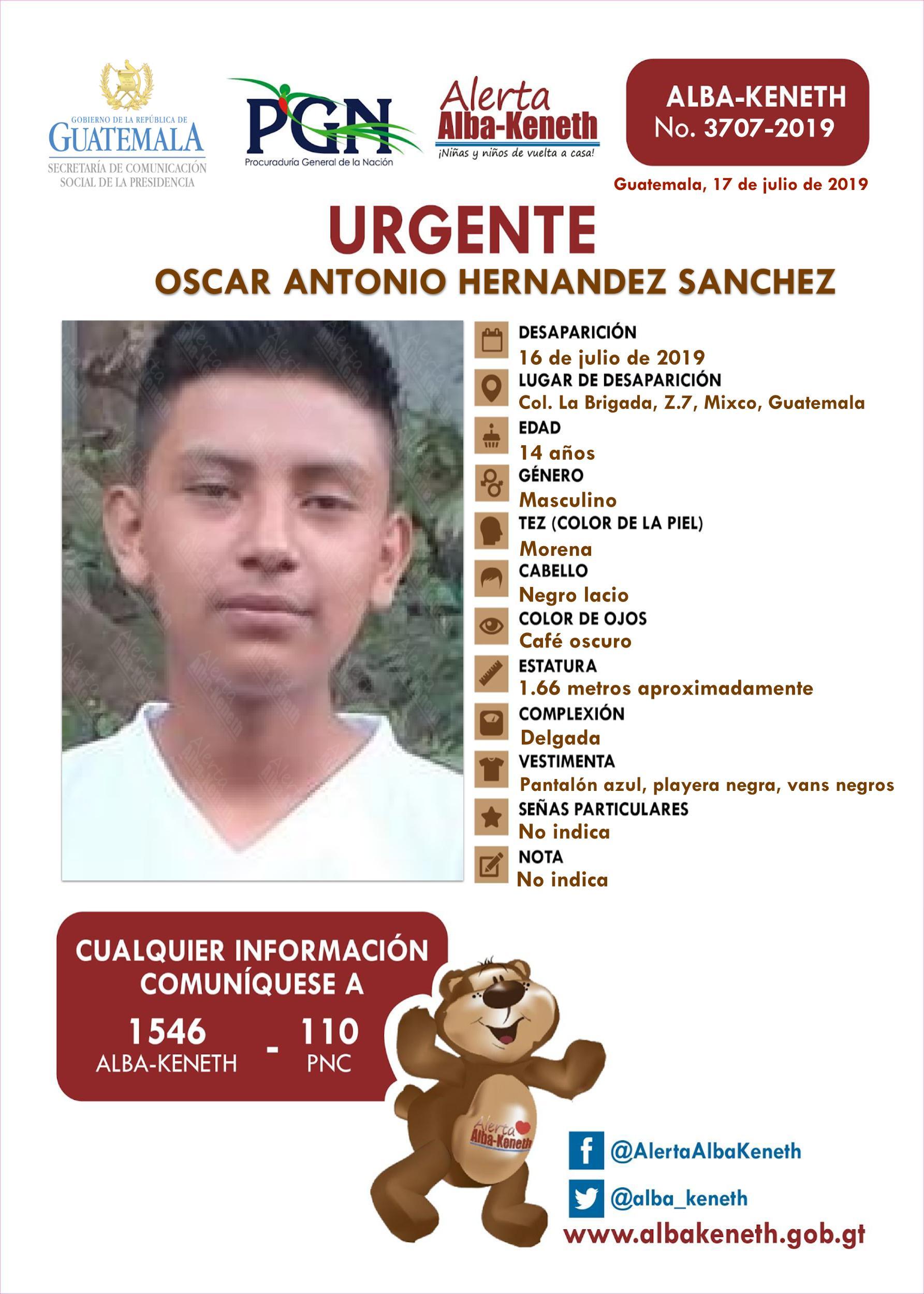 Oscar Antonio Hernandez Sanchez