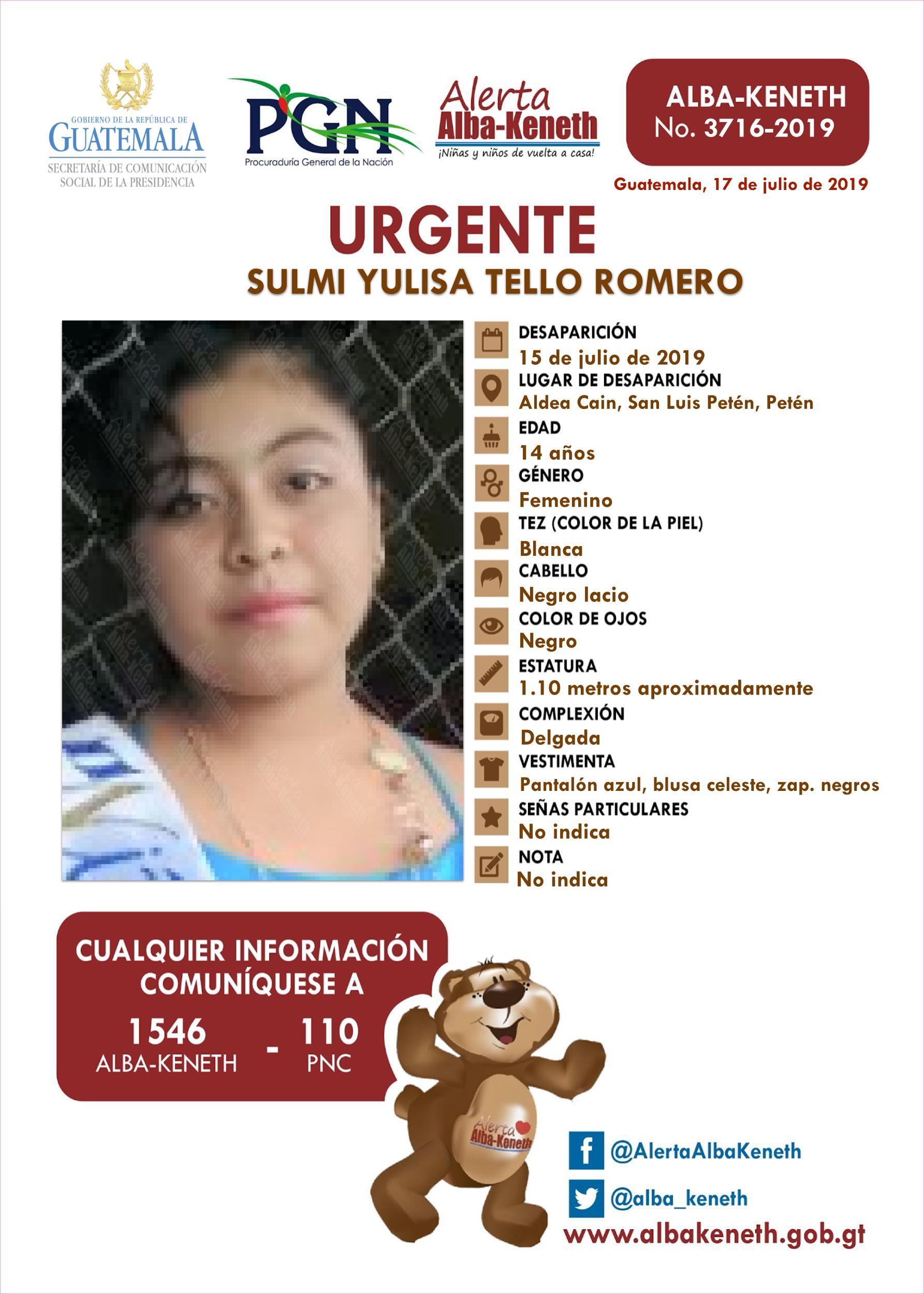 Sulmi Yulisa Tello Romero