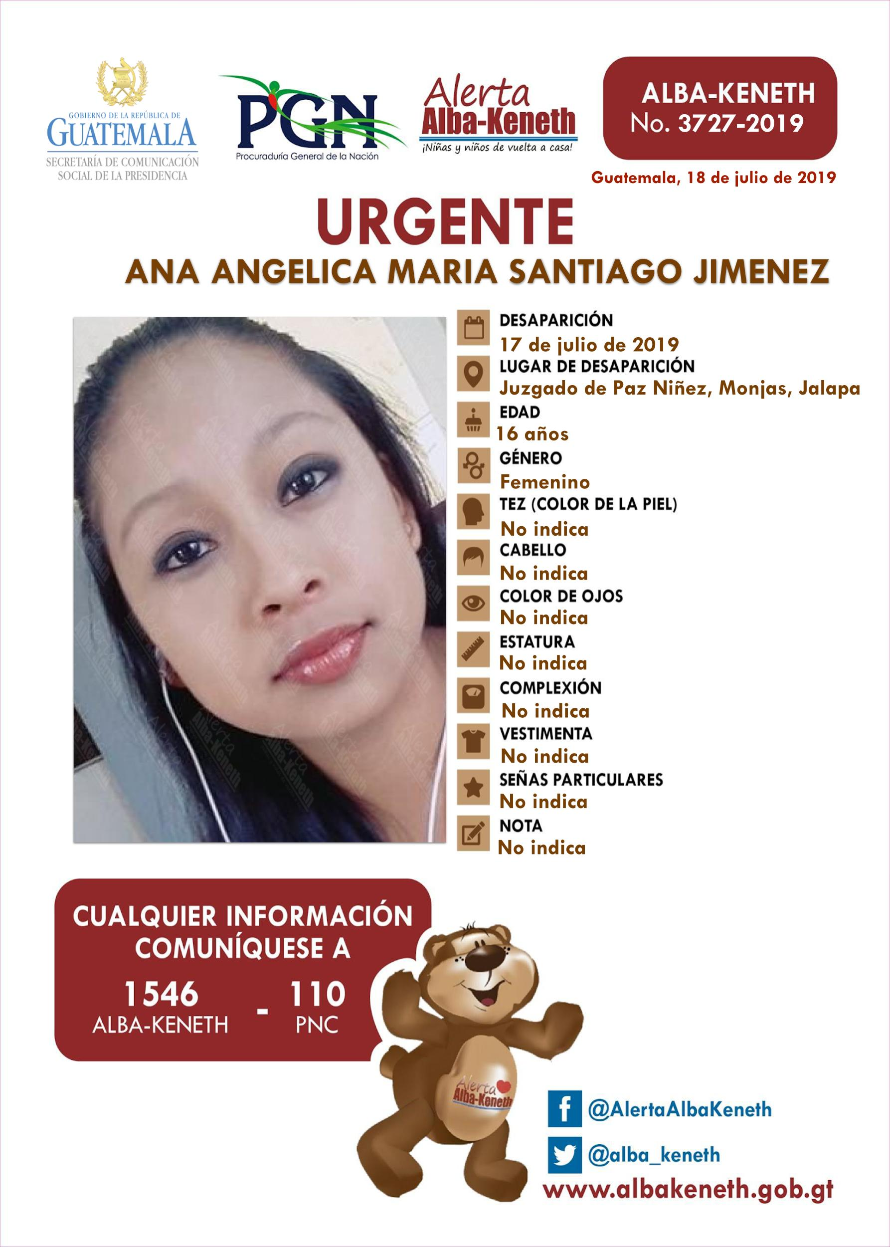 Ana Angelica Maria Santiago Jimenez
