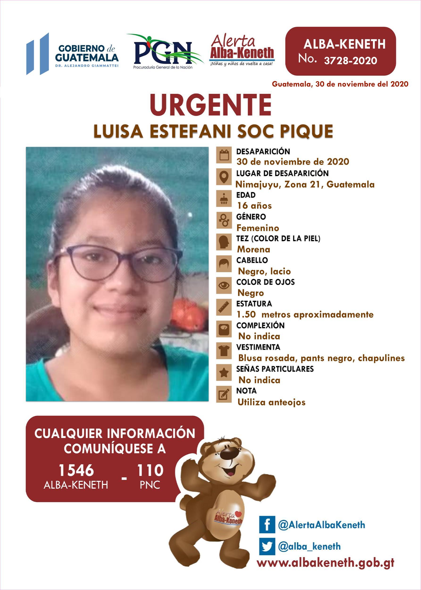 Luisa Estefani Soc Pique