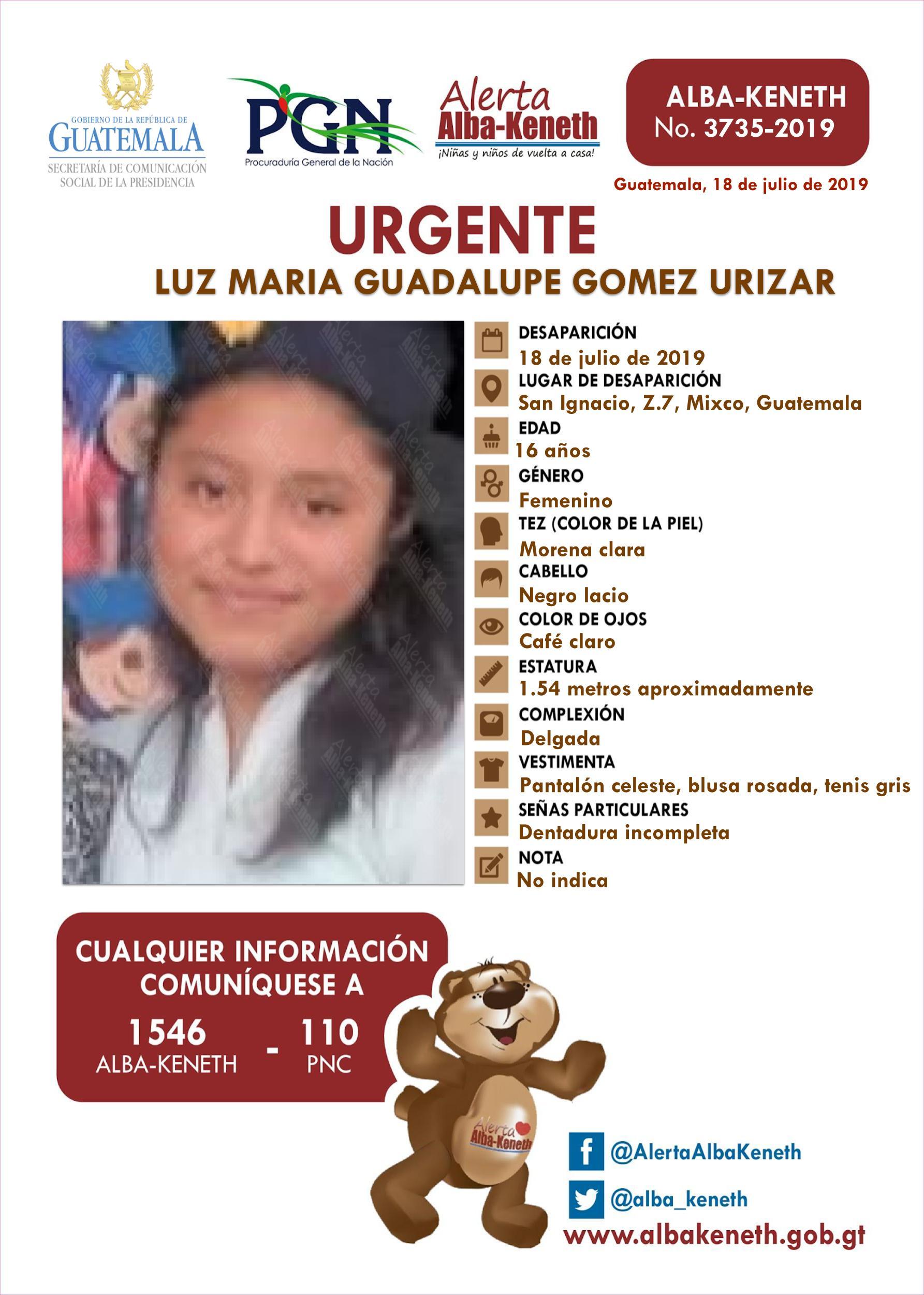 Luz Maria Guadalupe Gomez Urizar