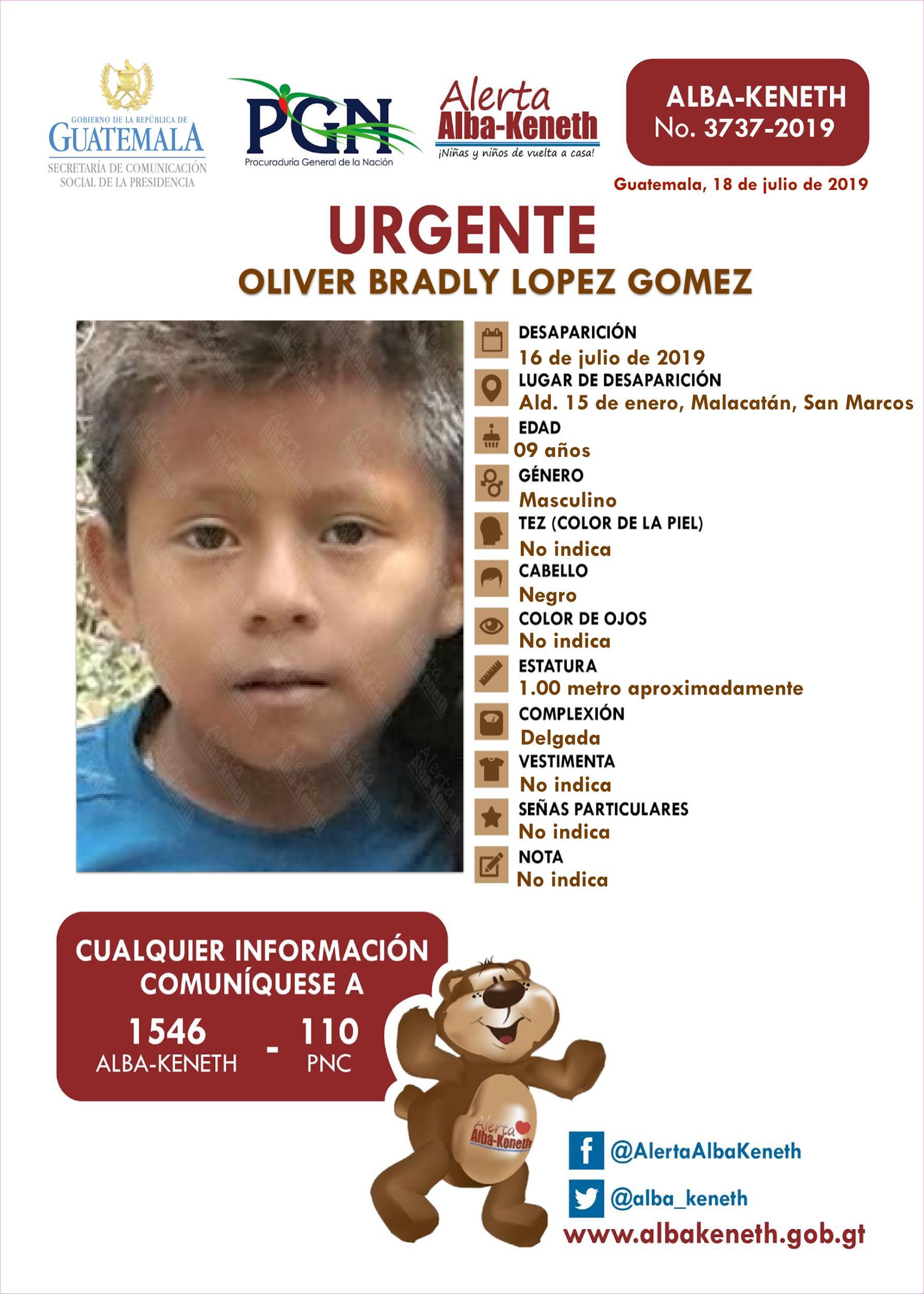 Oliver Bradly Lopez Gomez