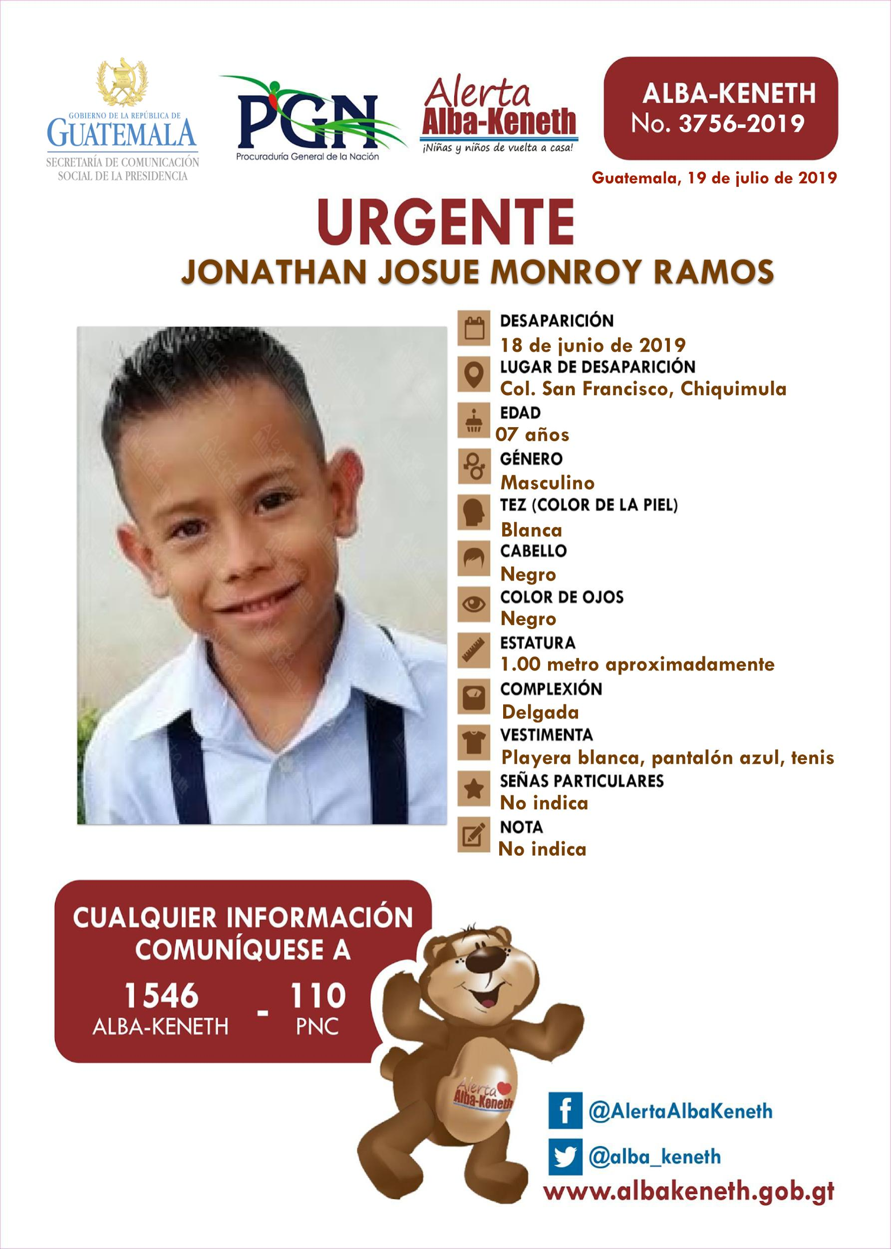 Jonathan Josue Monroy Ramos