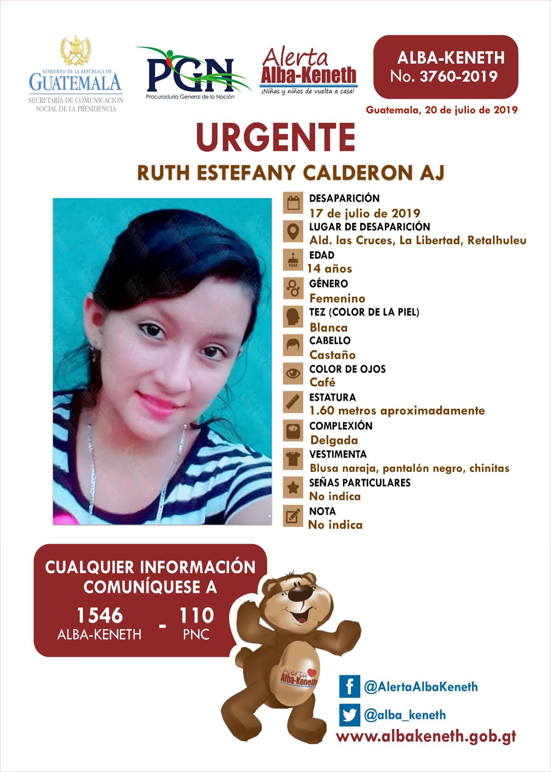 Ruth Estefany Calderon Aj