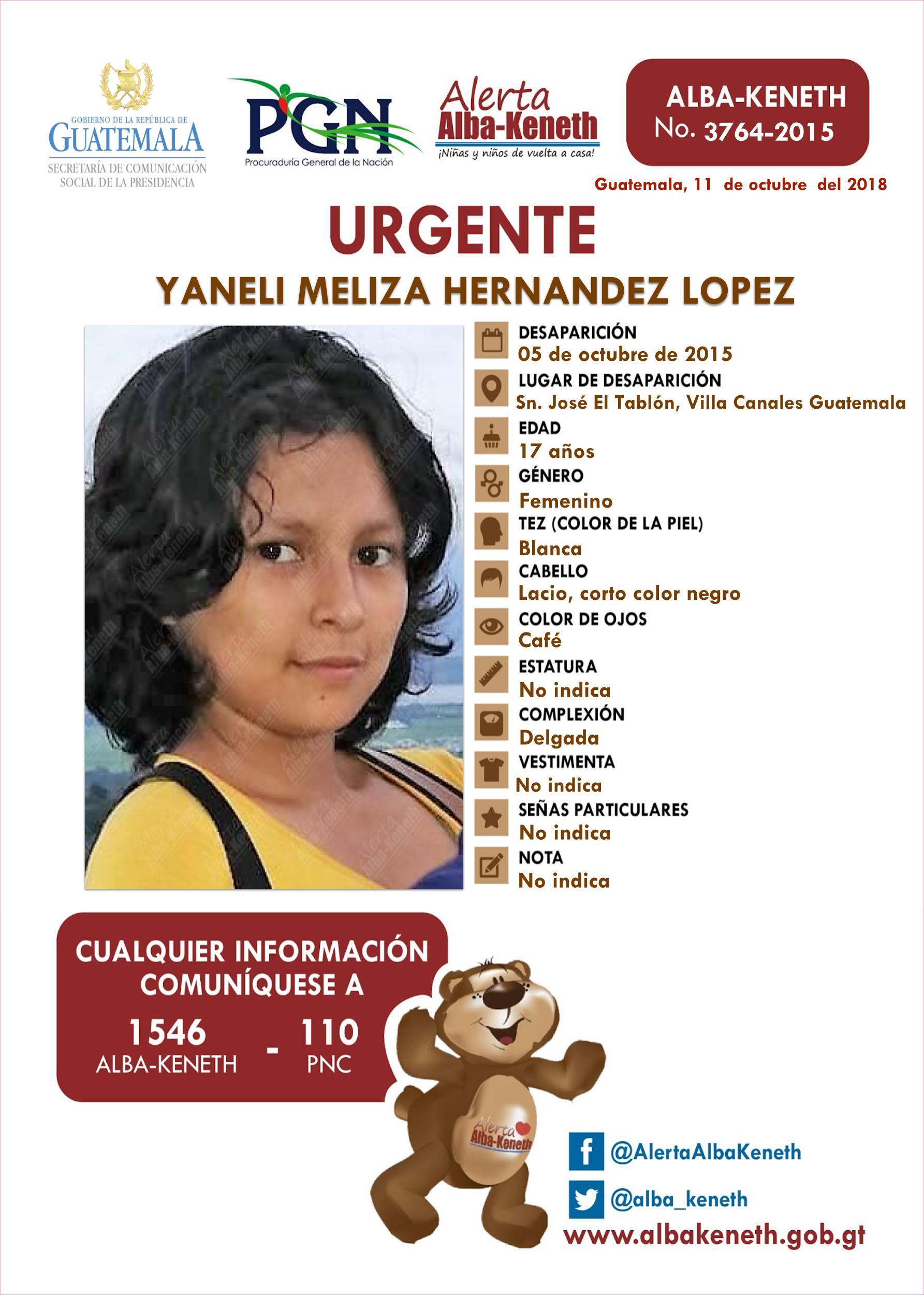 Yaneli Meliza Hernandez Lopez