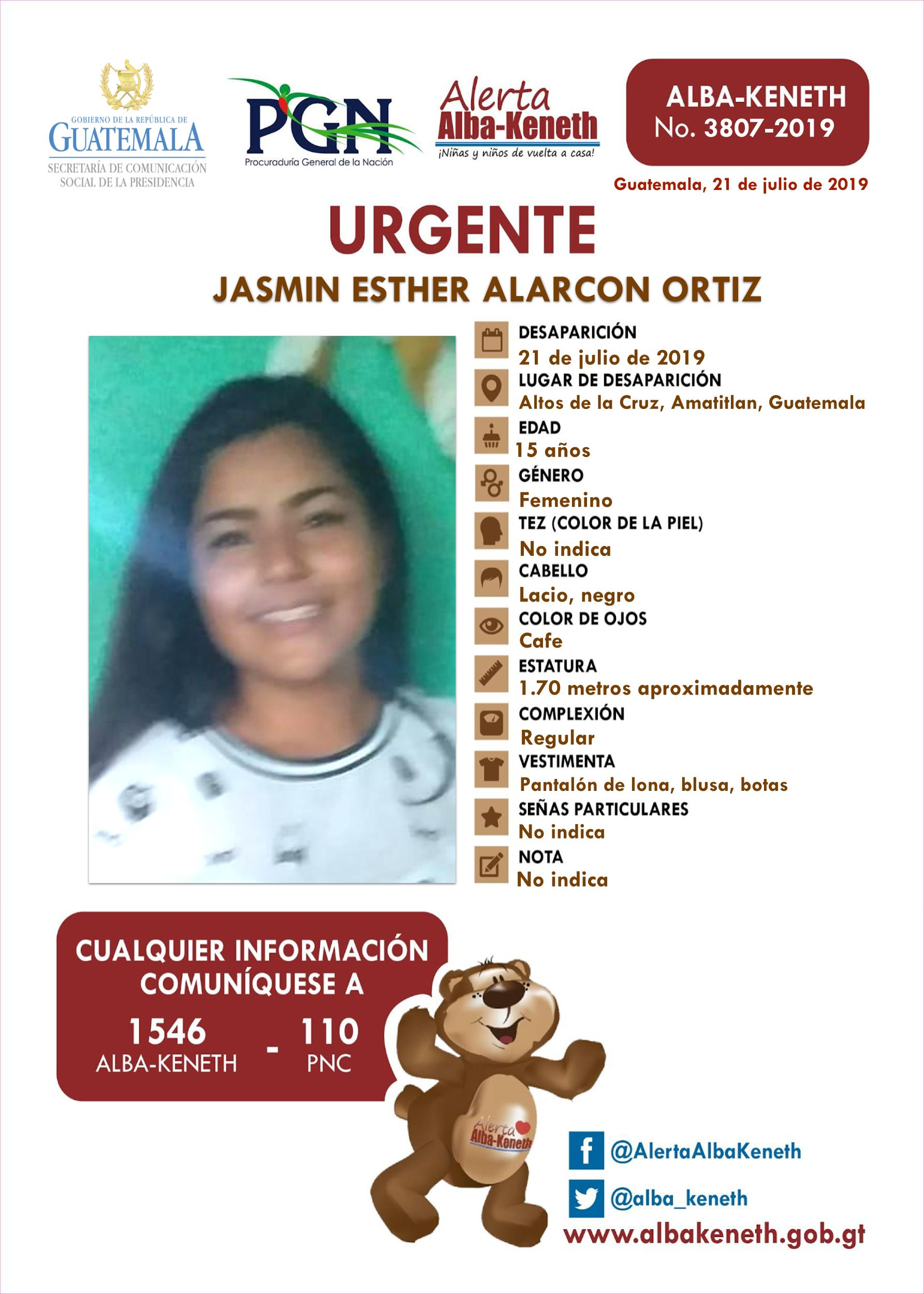 Jasmin Esther Alarcon Ortiz