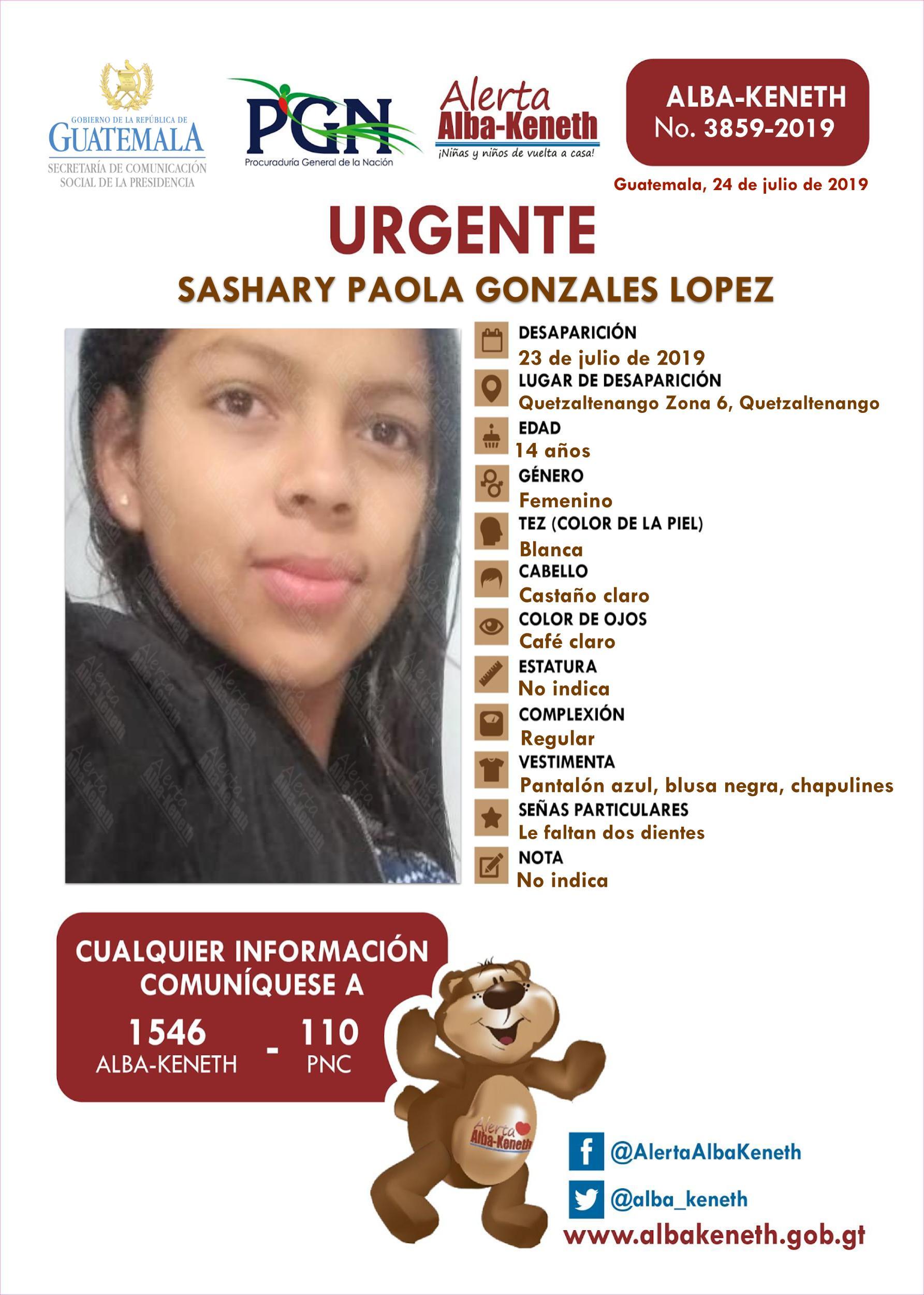 Sashary Paola Gonzales Lopez