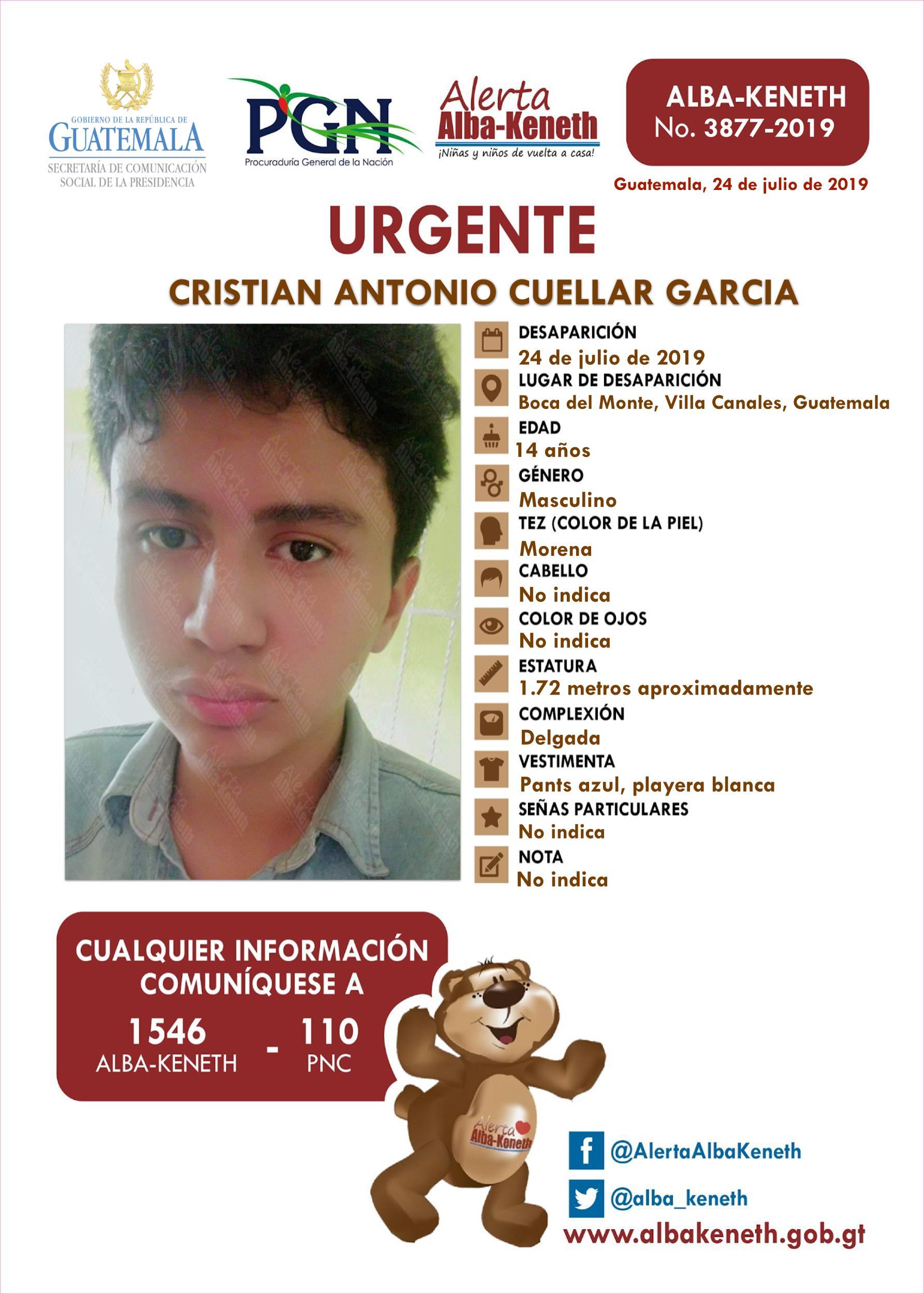 Cristian Antonio Cuellar Garcia