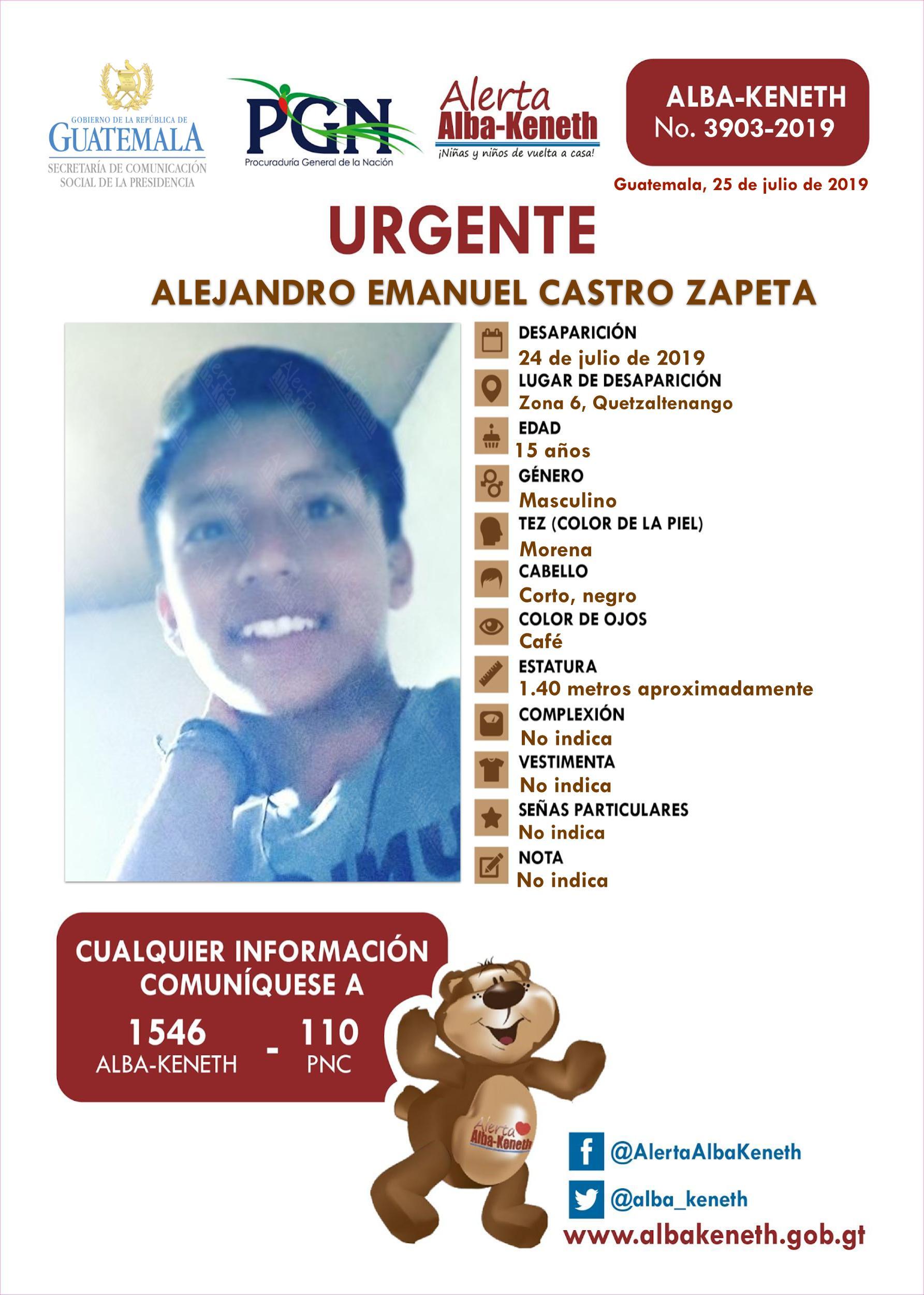Alejandro Emanuel Castro Zapeta