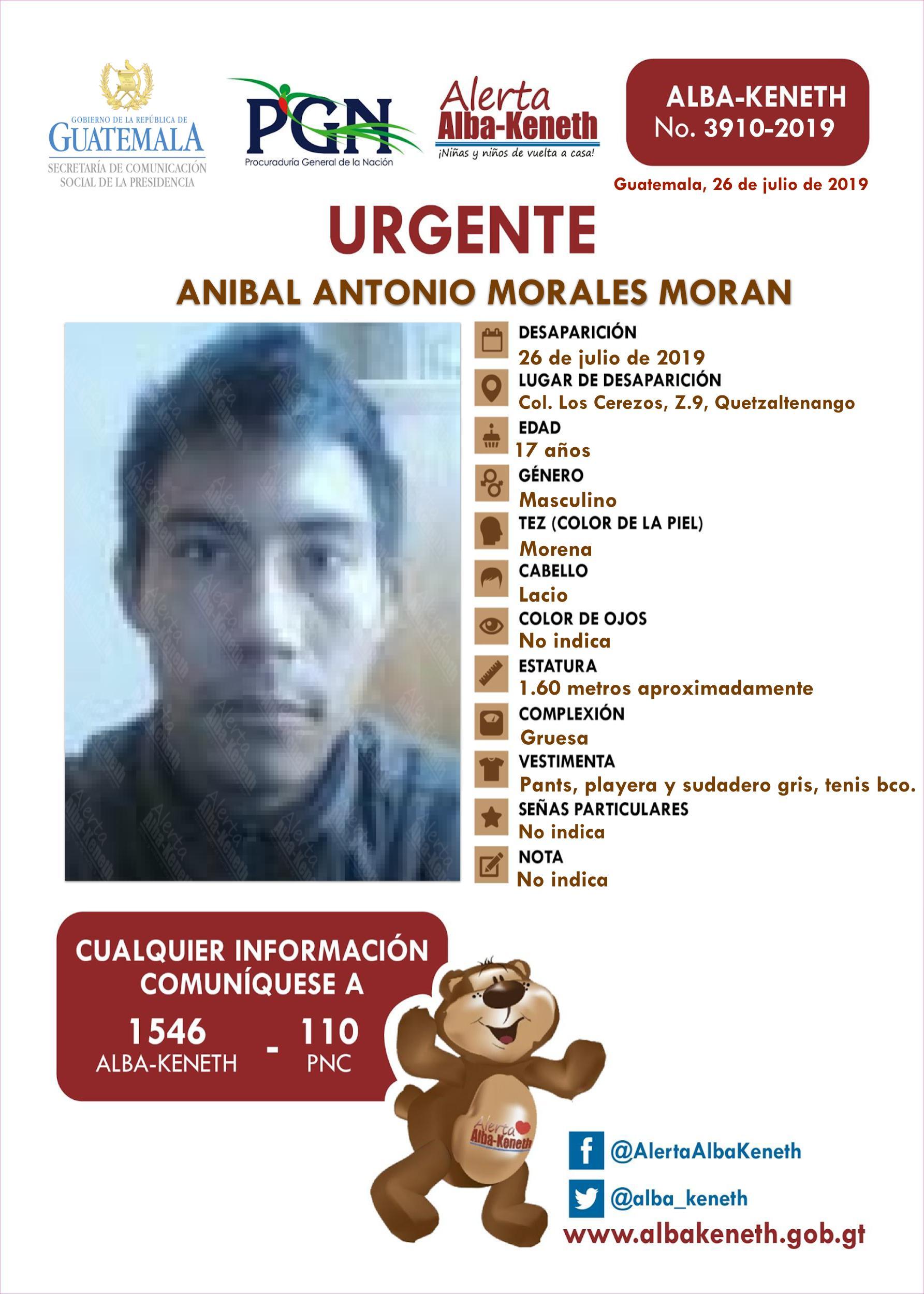 Anibal Antonio Morales Moran