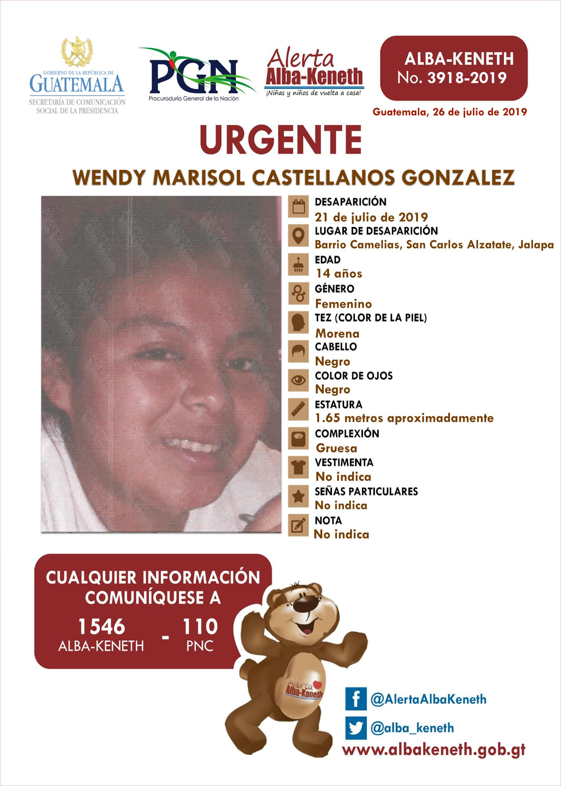 Wendy Marisol Castellanos Gonzalez