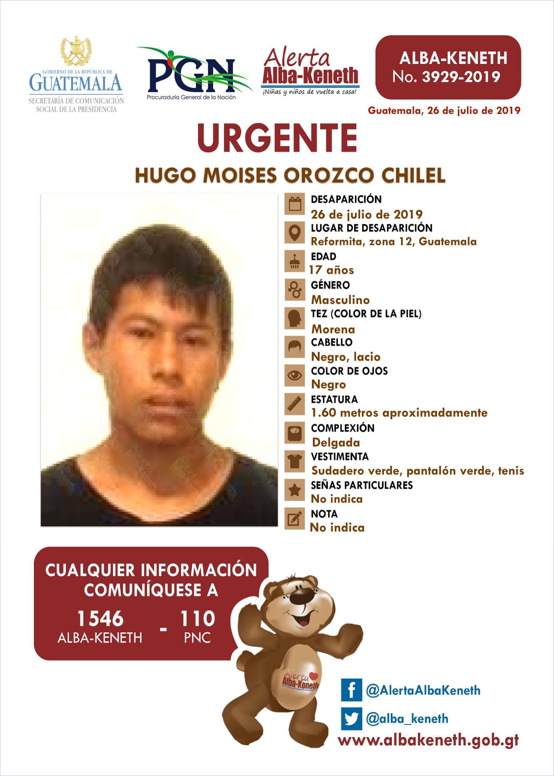 Hugo Moises Orozco Chilel