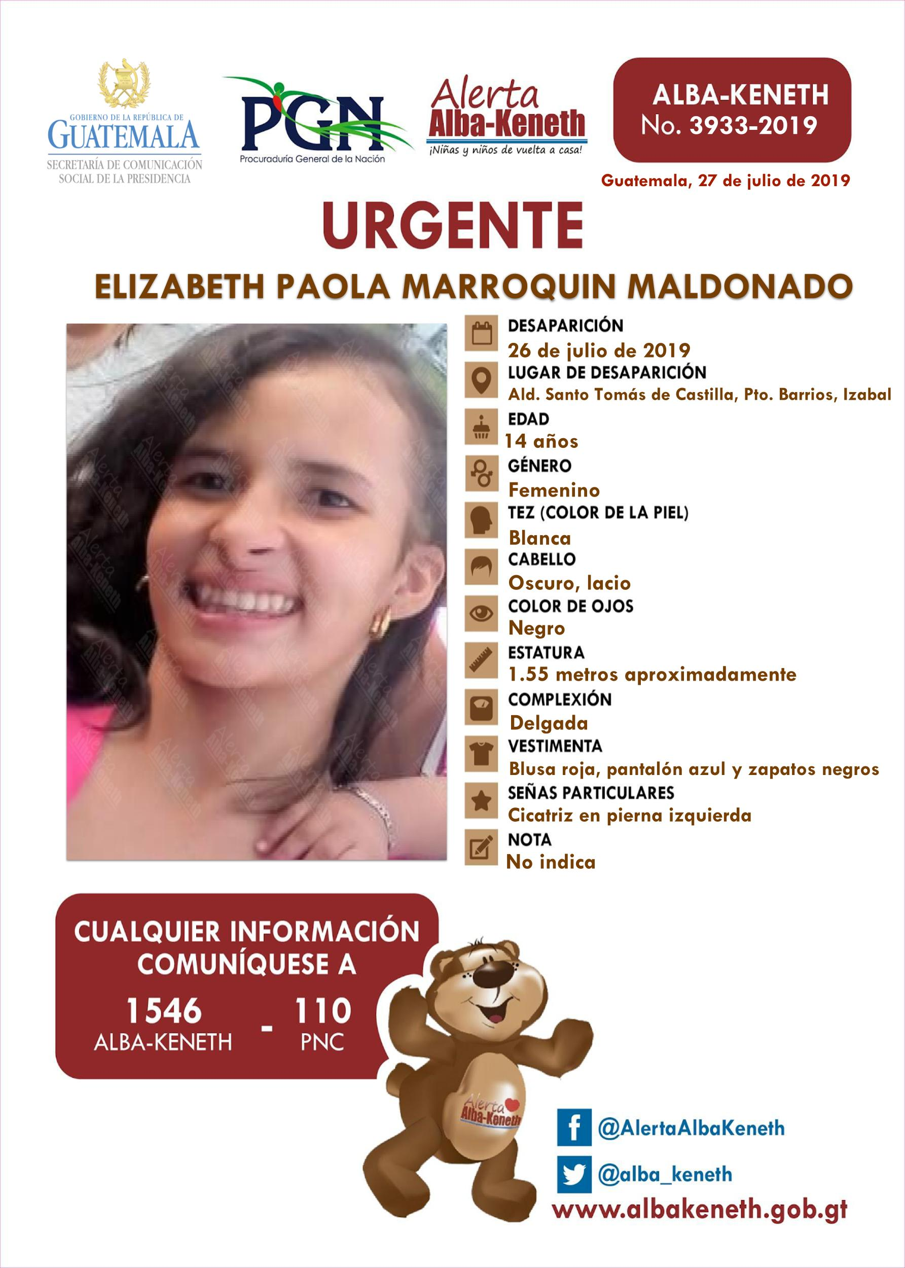 Elizabeth Paola Marroquin Maldonado