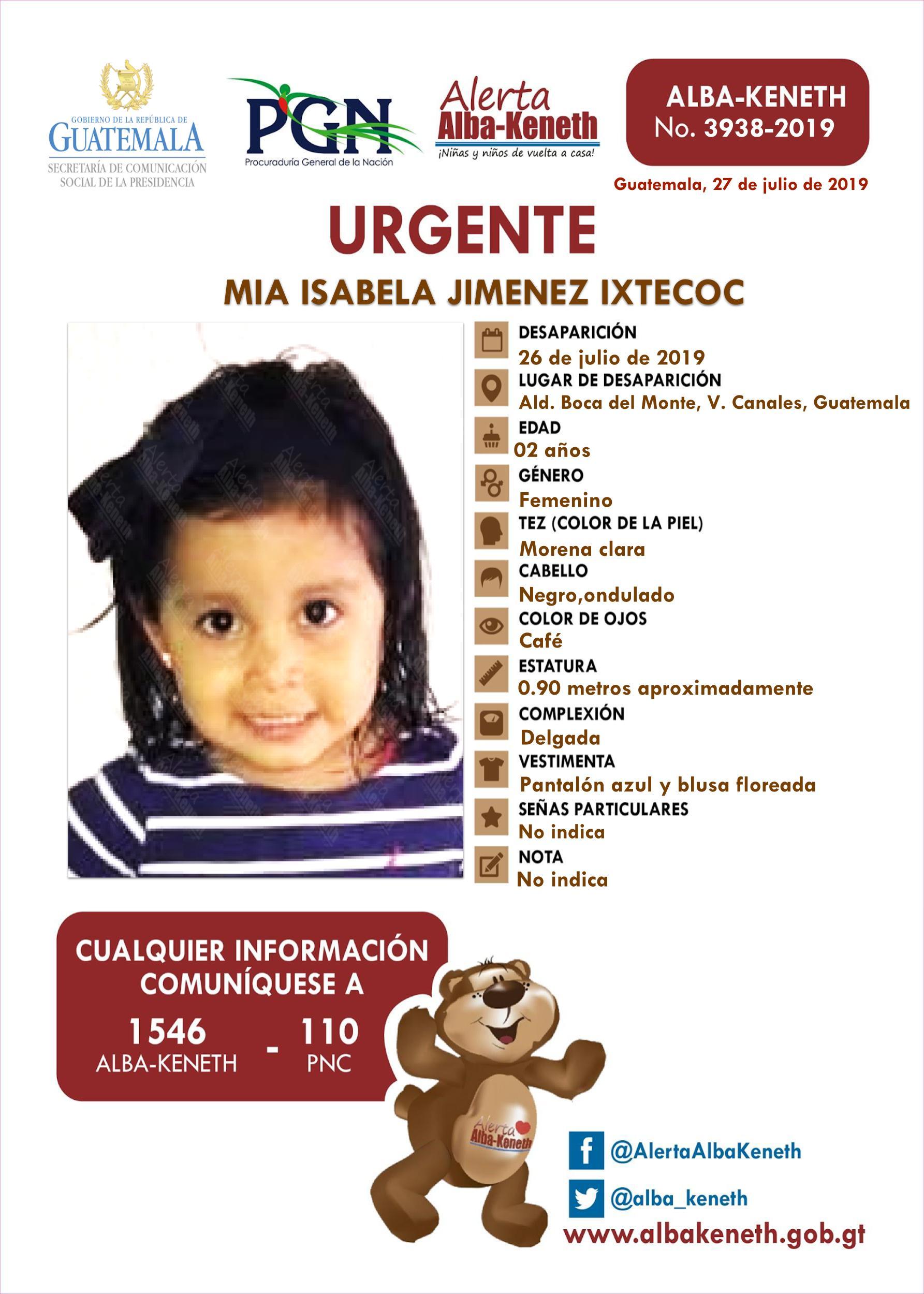 Mia Isabela Jimenez Ixtecoc