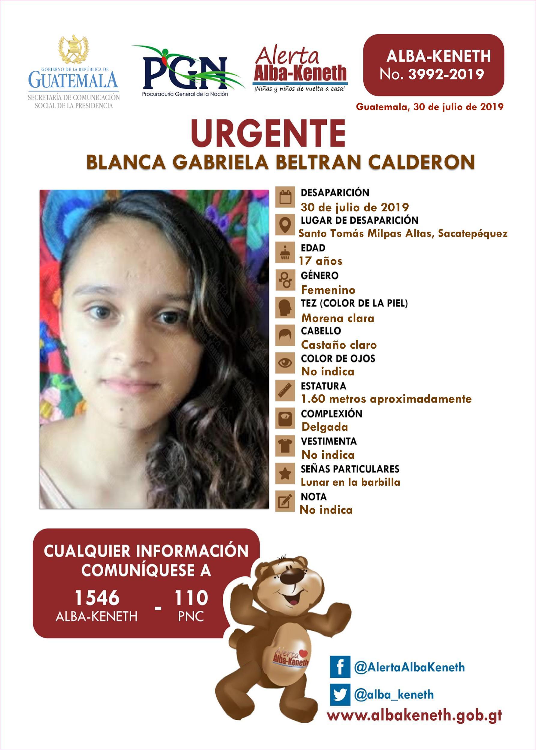 Blanca Gabriela Beltran Calderon