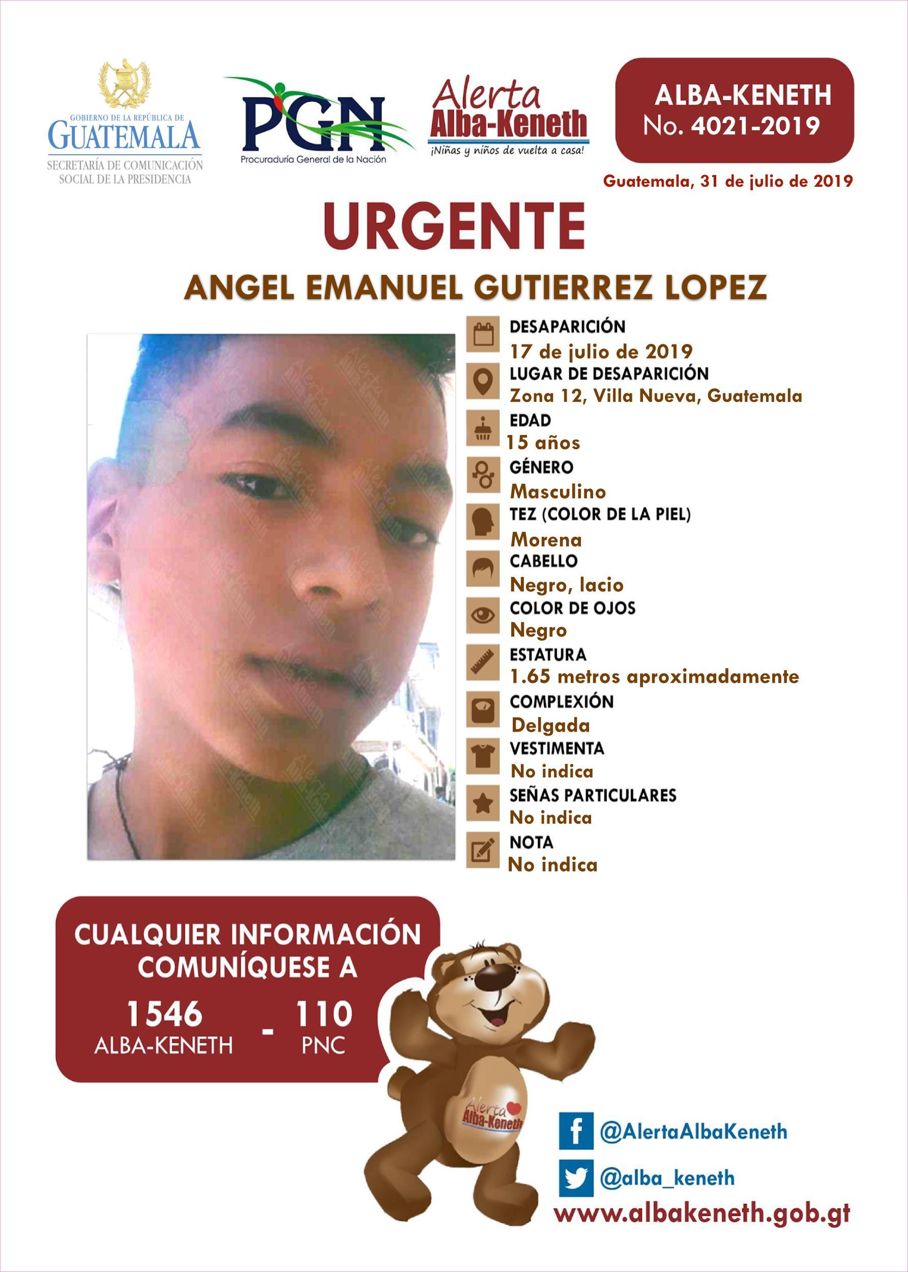 Angel Emanuel Gutierrez Lopez