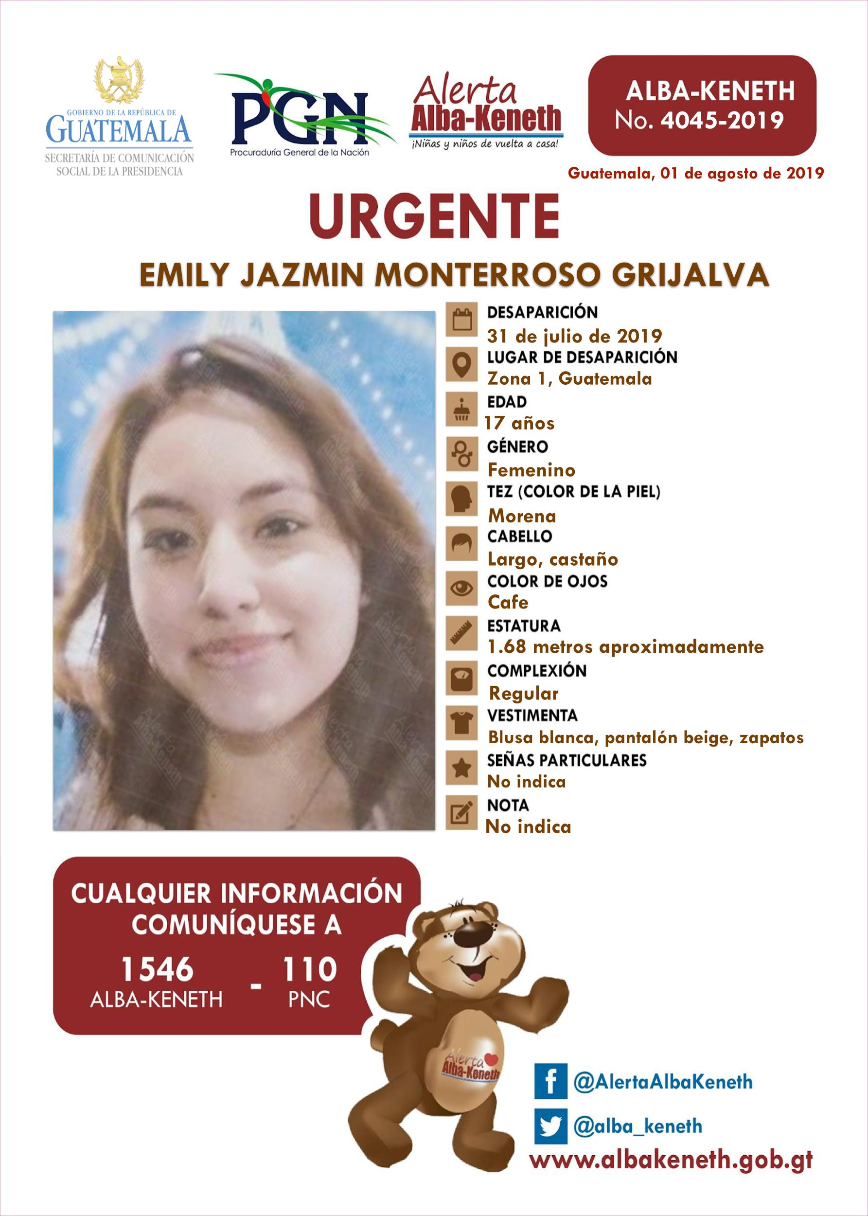 Emily Jazmin Monterroso Grijalva