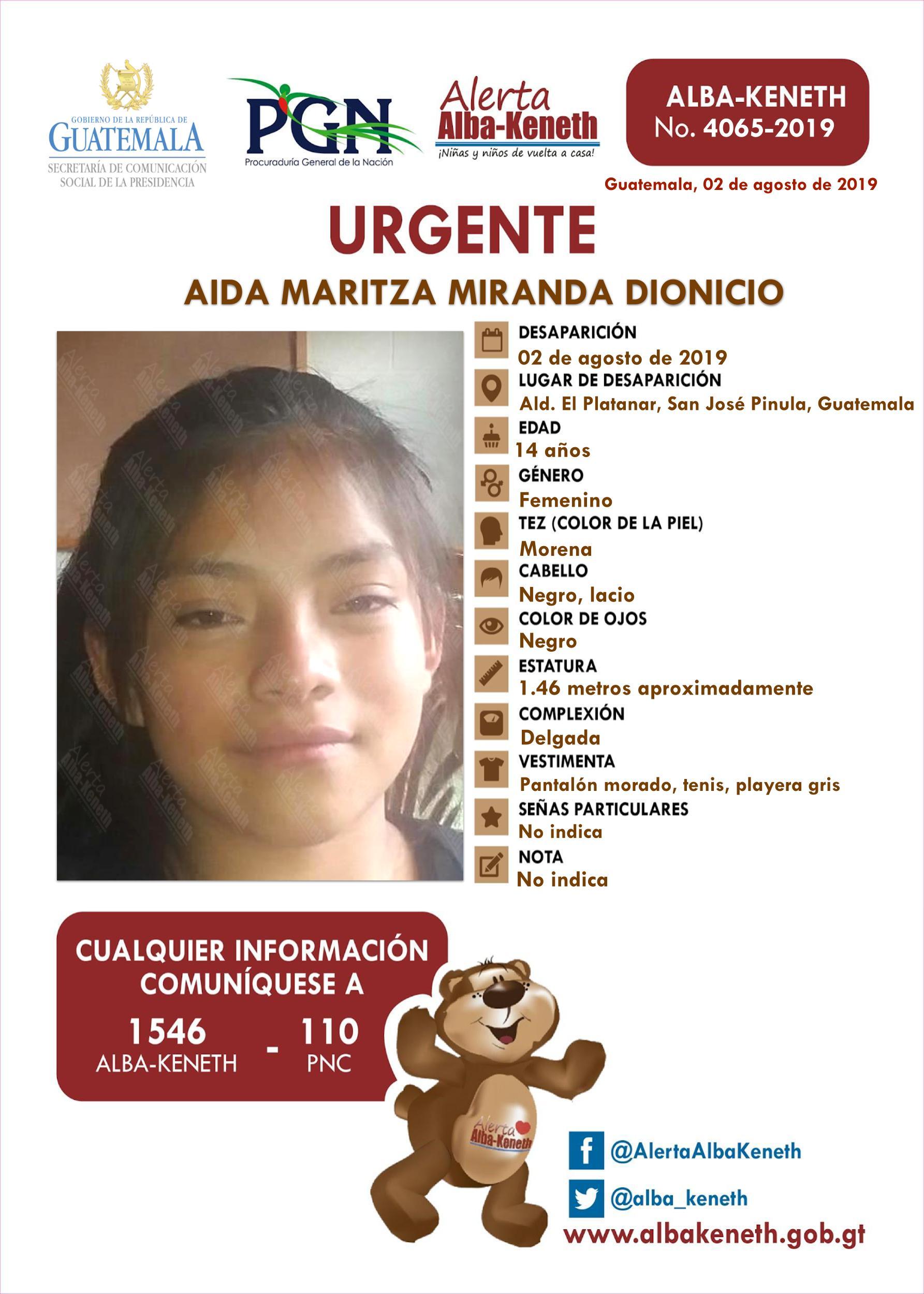 Aida Maritza Miranda Dionicio