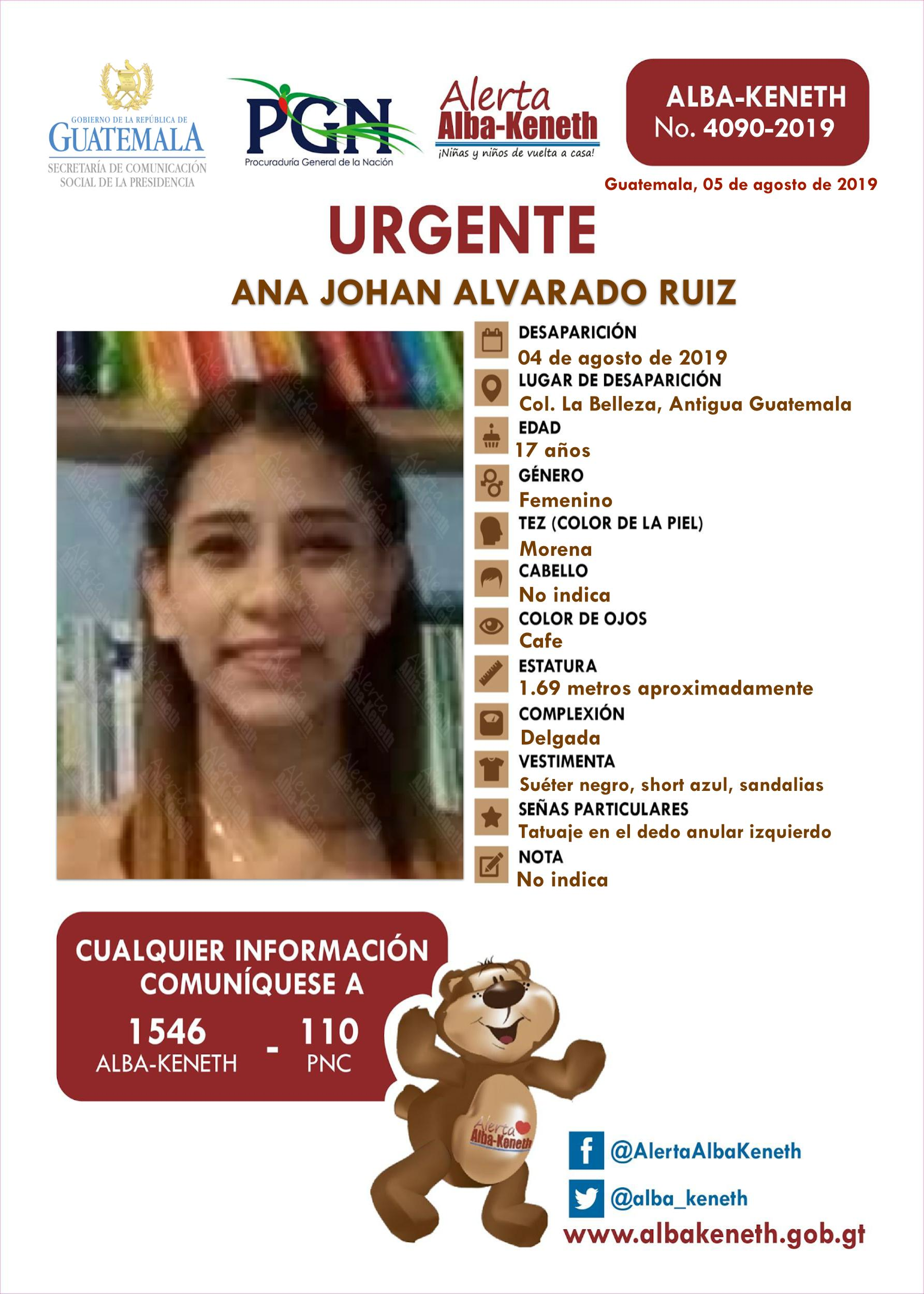 Ana Johan Alvarado Ruiz