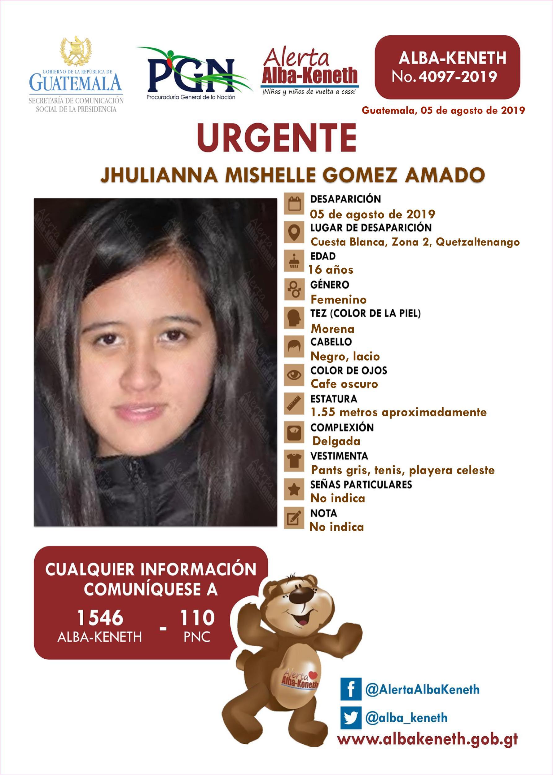 Jhulianna Mishelle Gomez Amado
