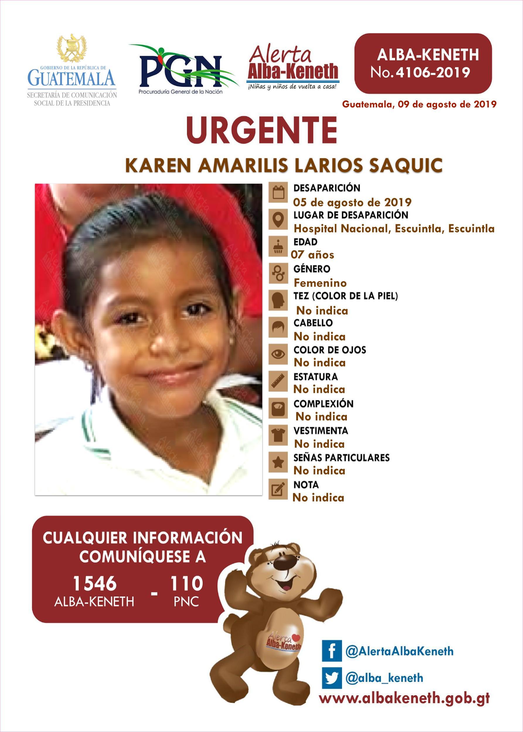 Karen Amarilis Larios Saquic