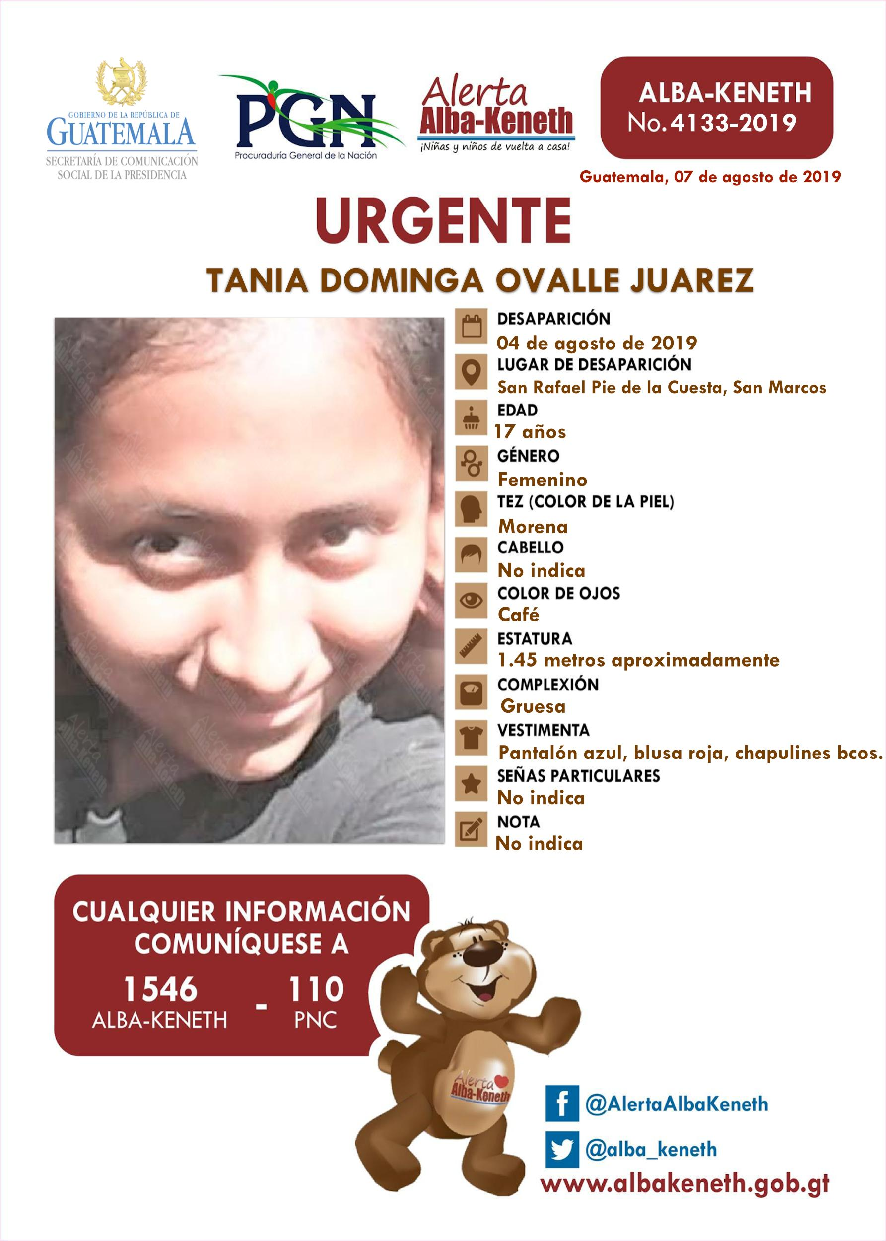 Tania Dominga Ovalle Juarez