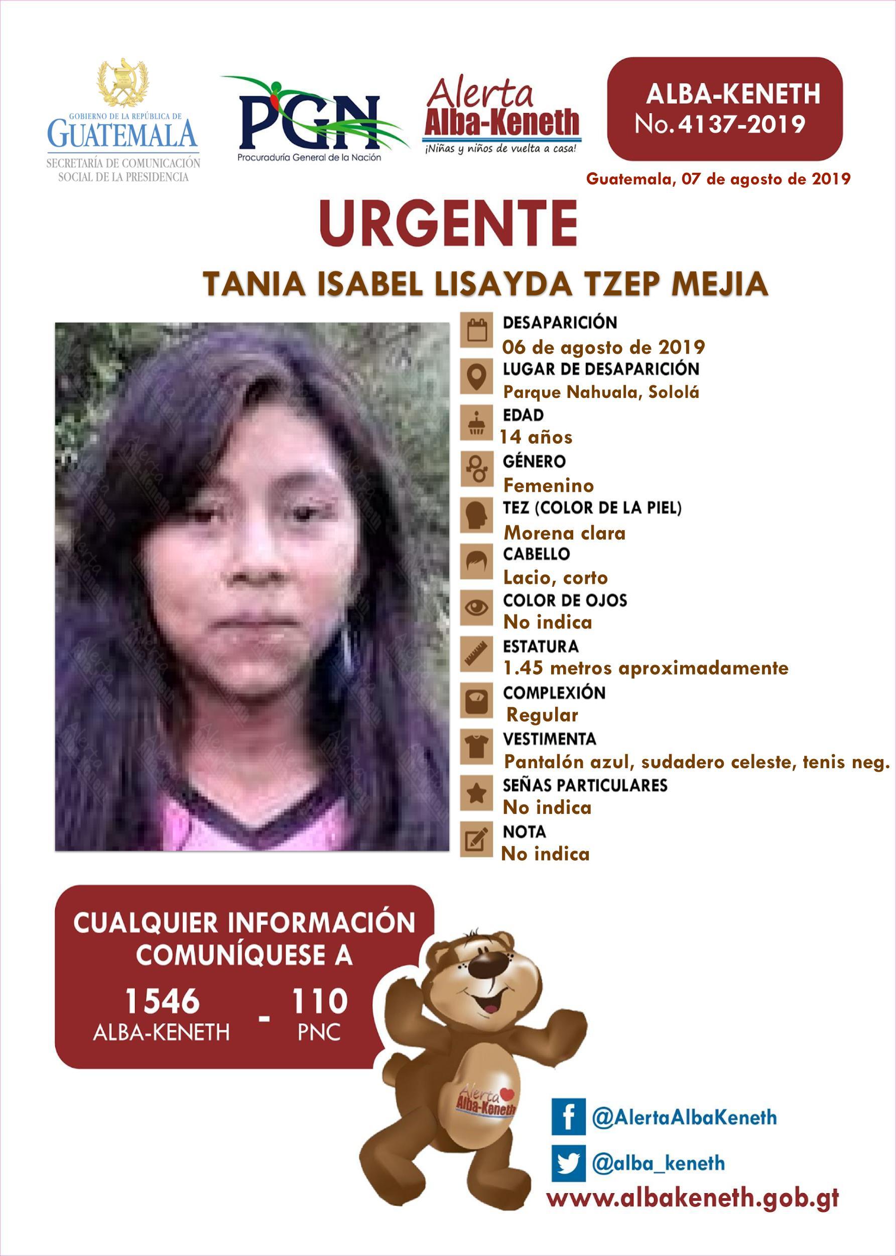 Tania Isabel Lisayda Tzep Mejia