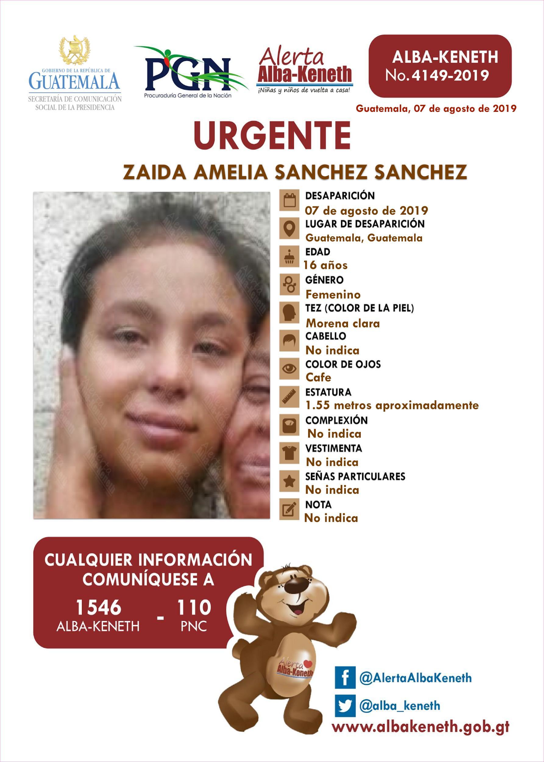 Zaida Amelia Sanchez Sanchez