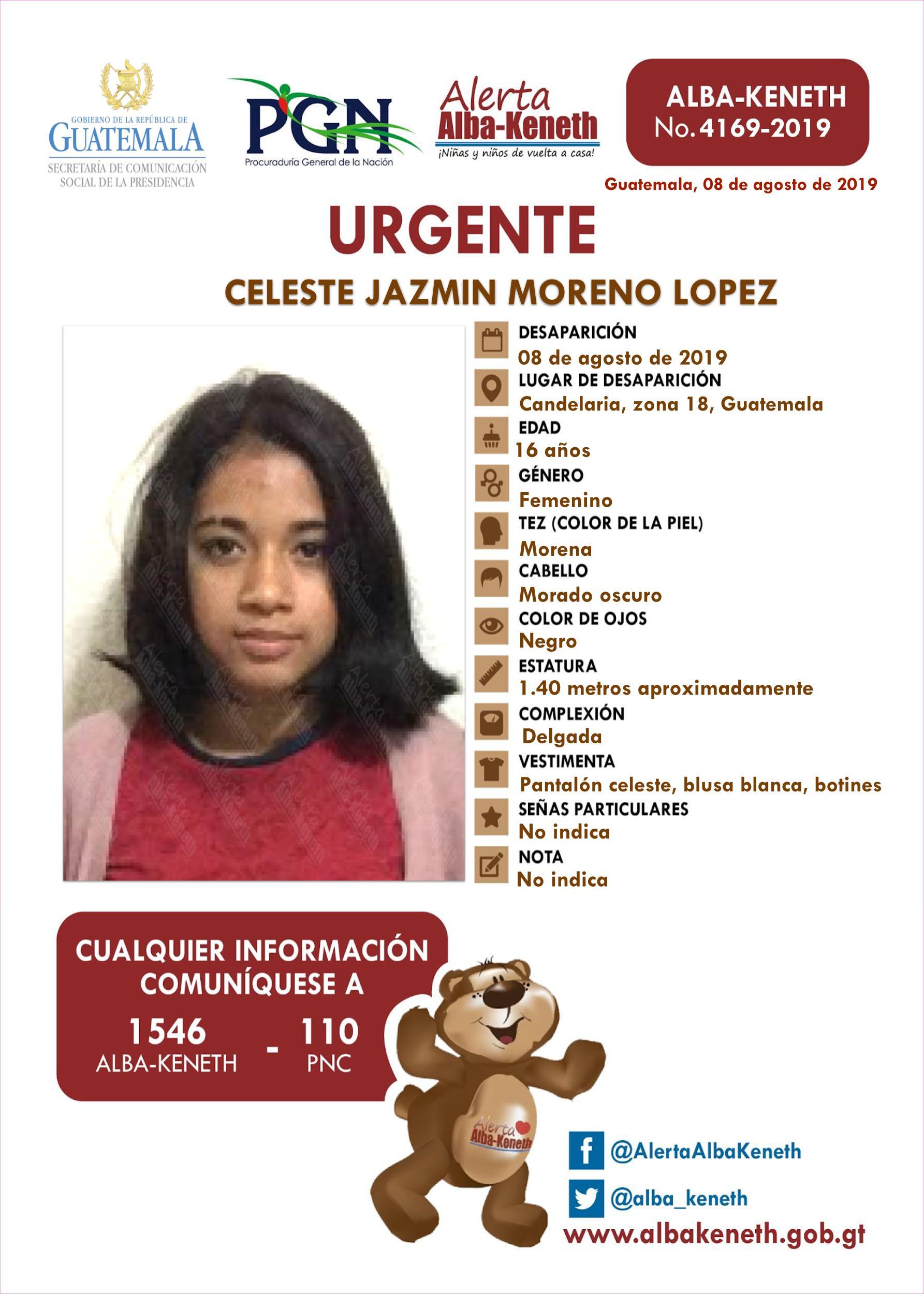 Celeste Jazmin Moreno Lopez