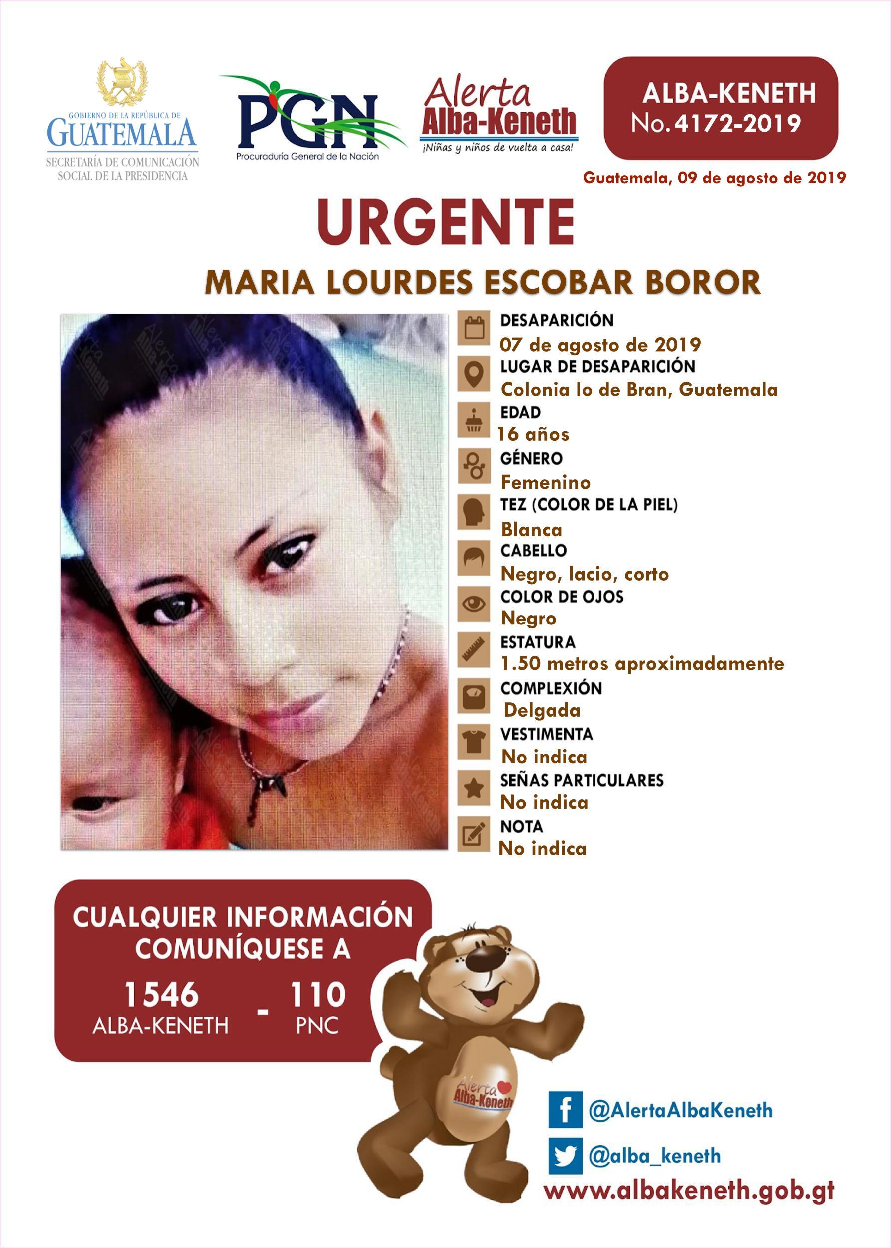 Maria Lourdes Escobar Boror