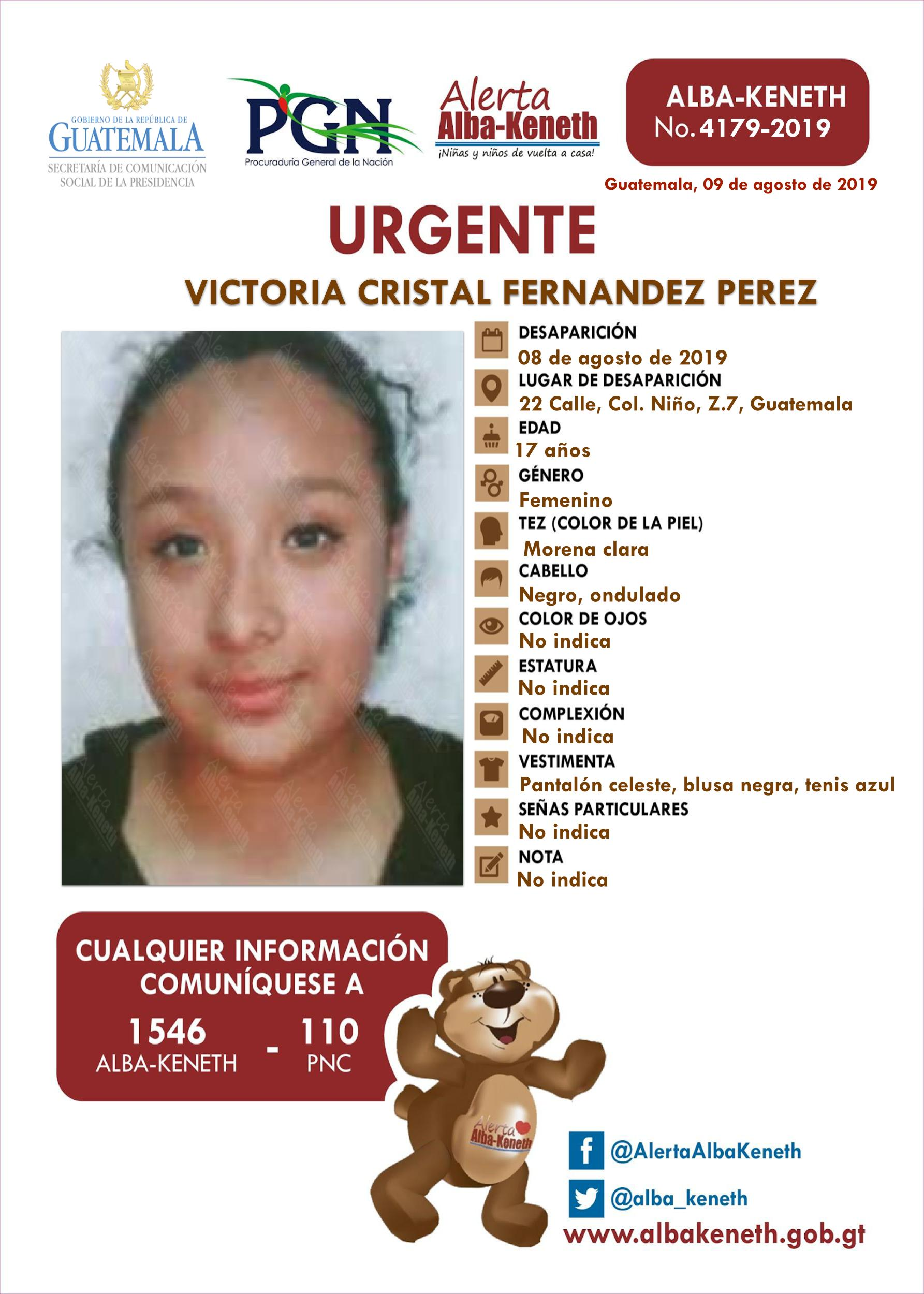 Victoria Cristal Fernandez Perez