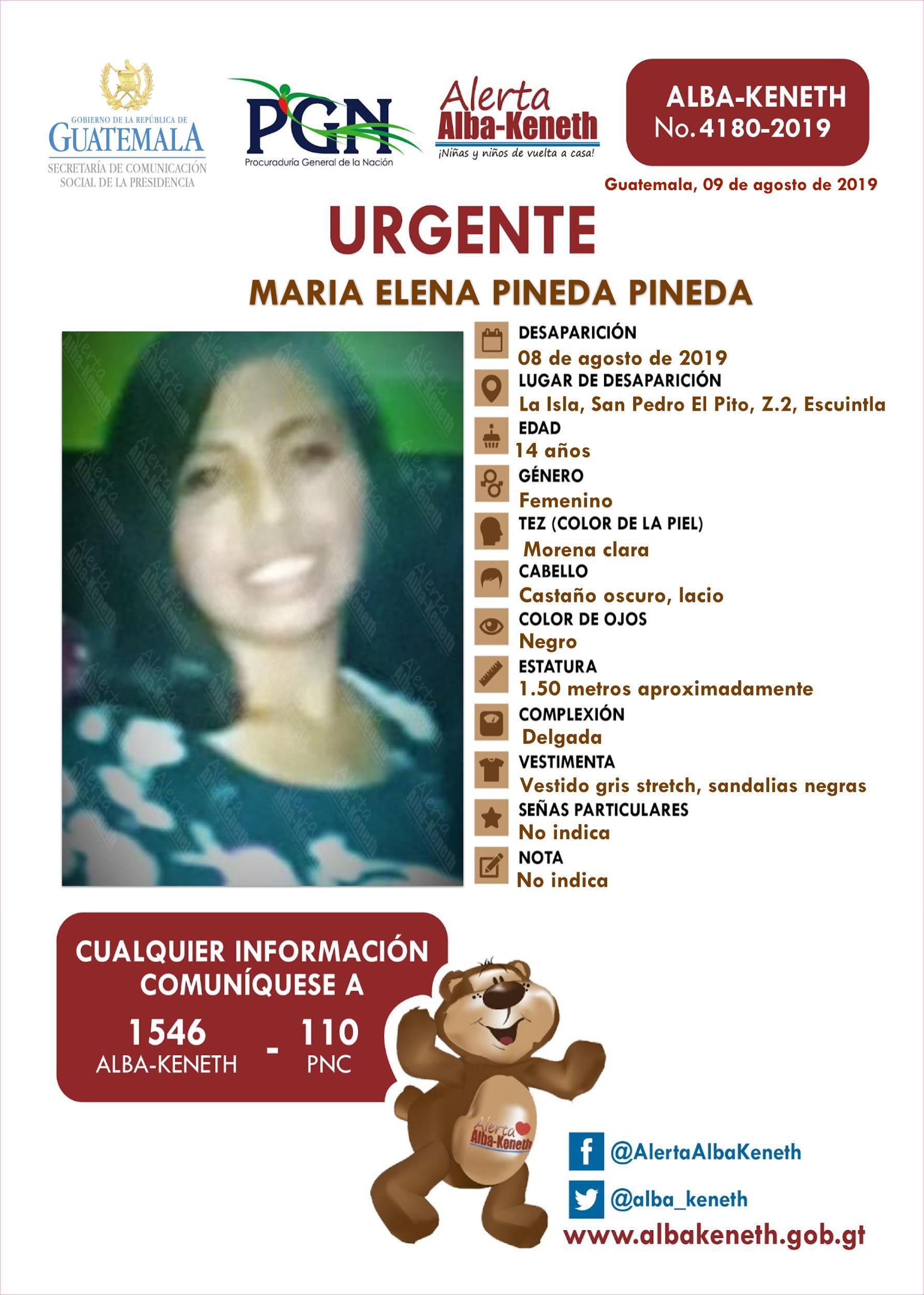 Maria Elena Pineda Pineda