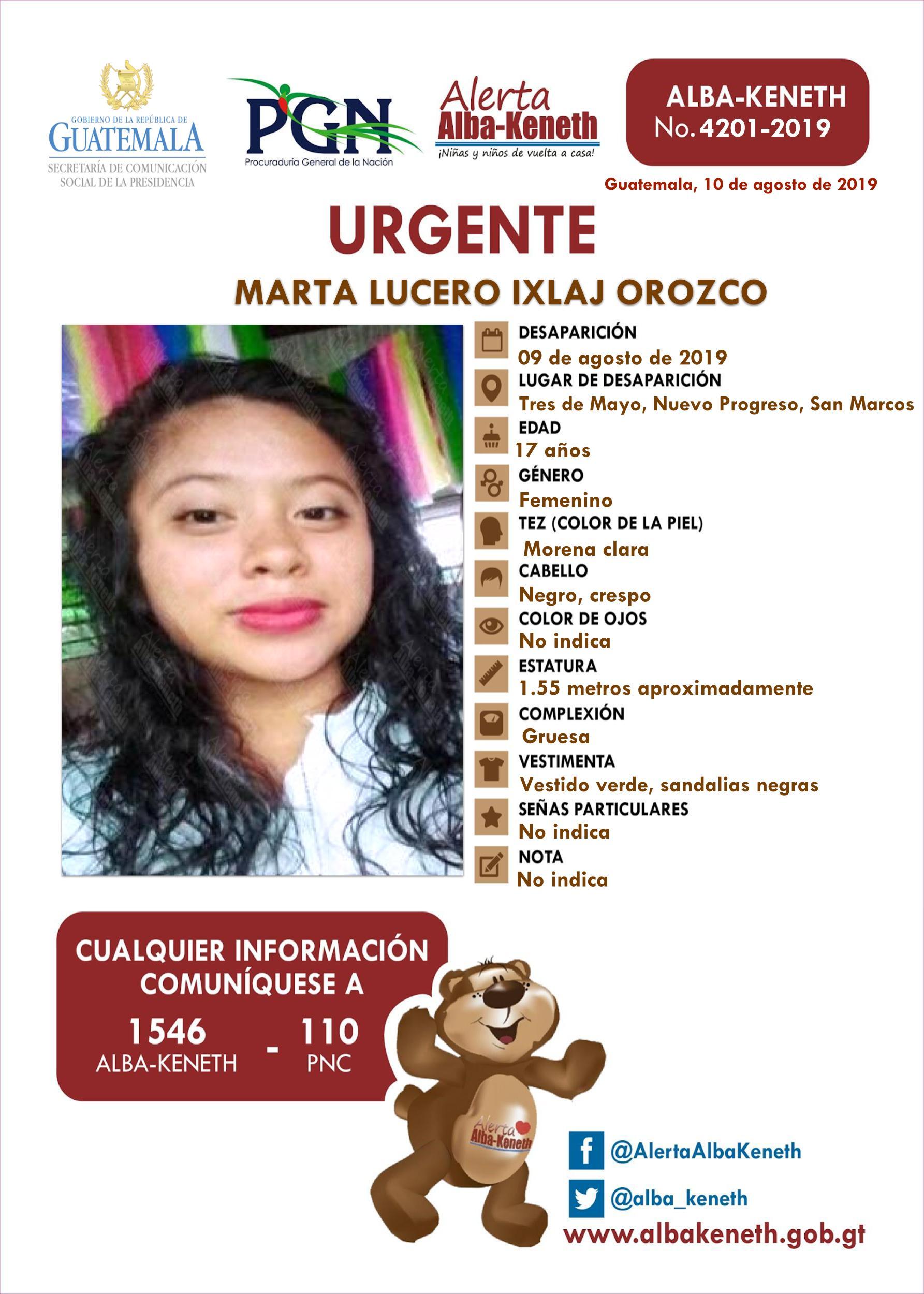 Marta Lucero Ixlaj Orozco