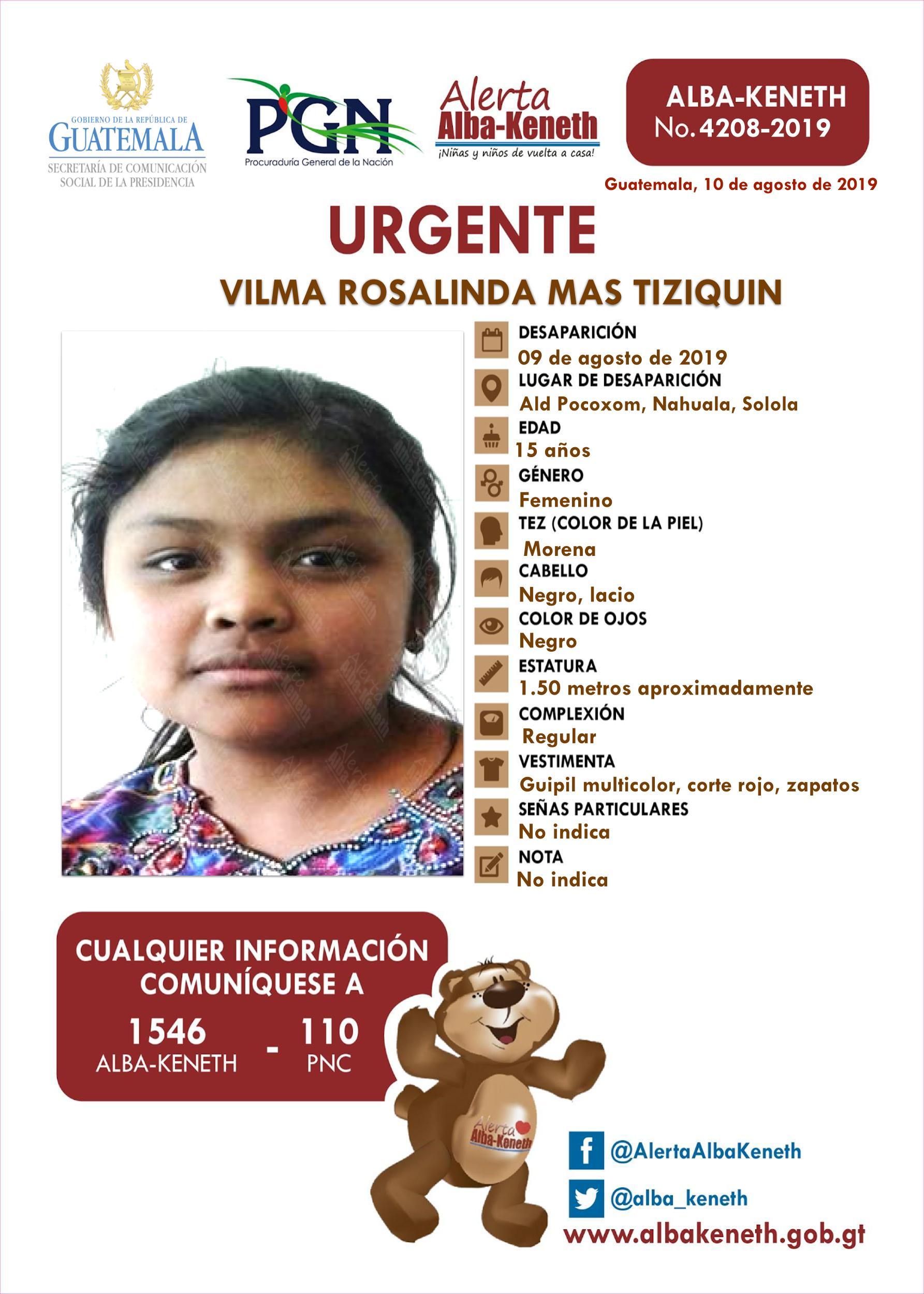 Vilma Rosalinda Mas Tiziquin