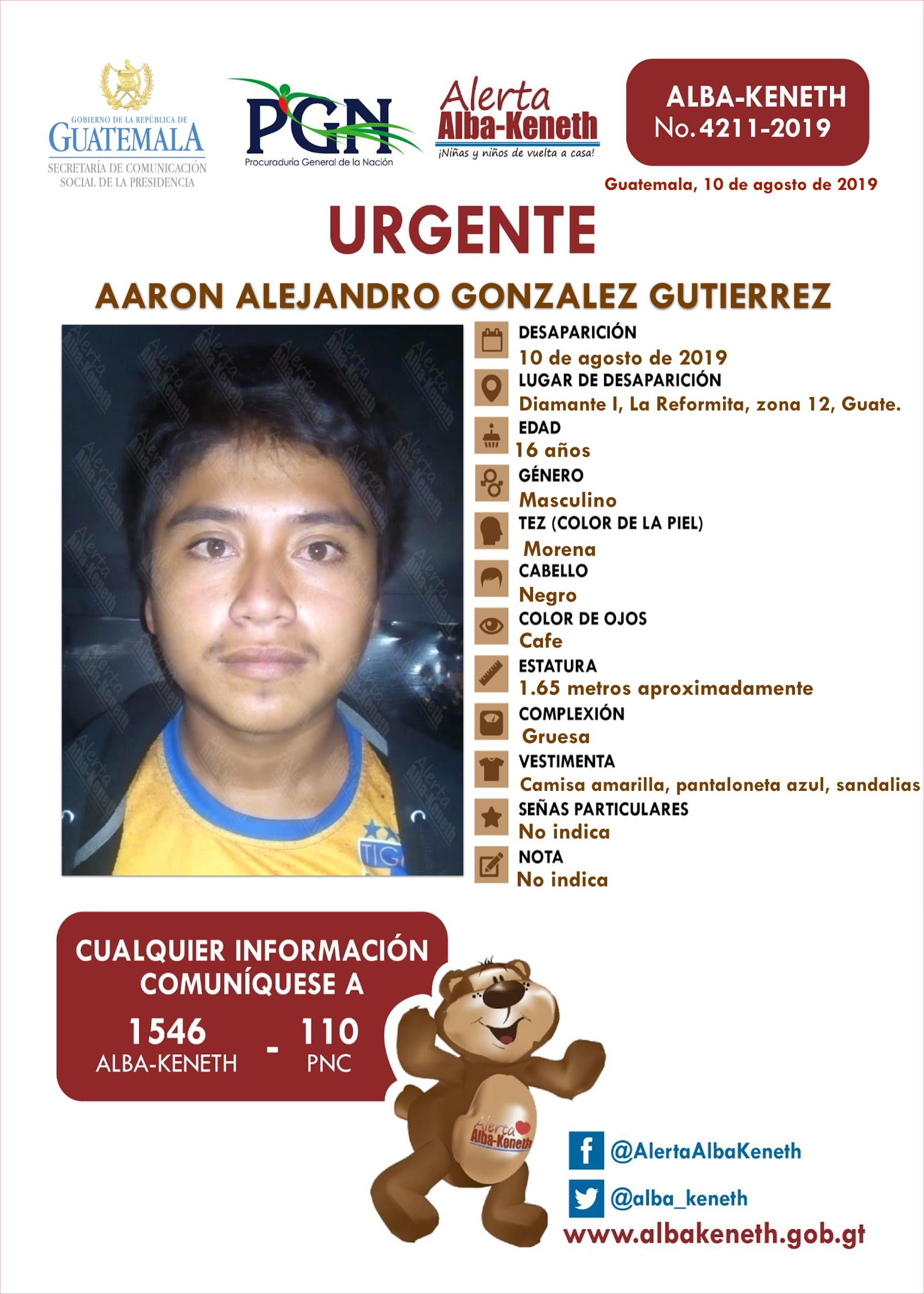 Aaron Alejandro Gonzalez Gutierrez
